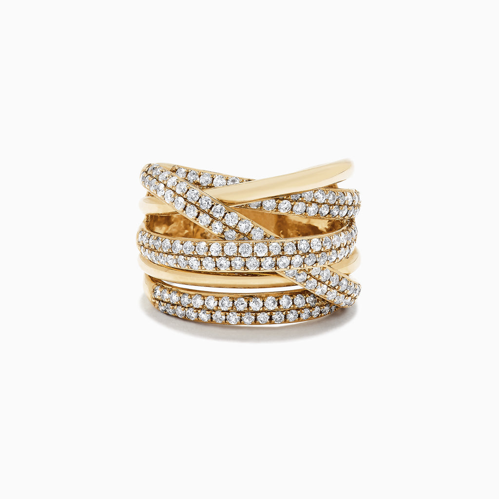 Effy D'Oro 14K Yellow Gold Diamond Ring, 1.47 TCW