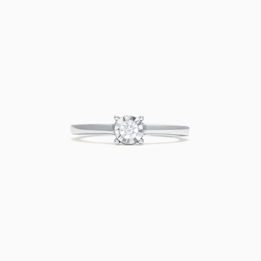 Effy Pave Classica 14K White Gold Diamond Ring, 0.15 TCW
