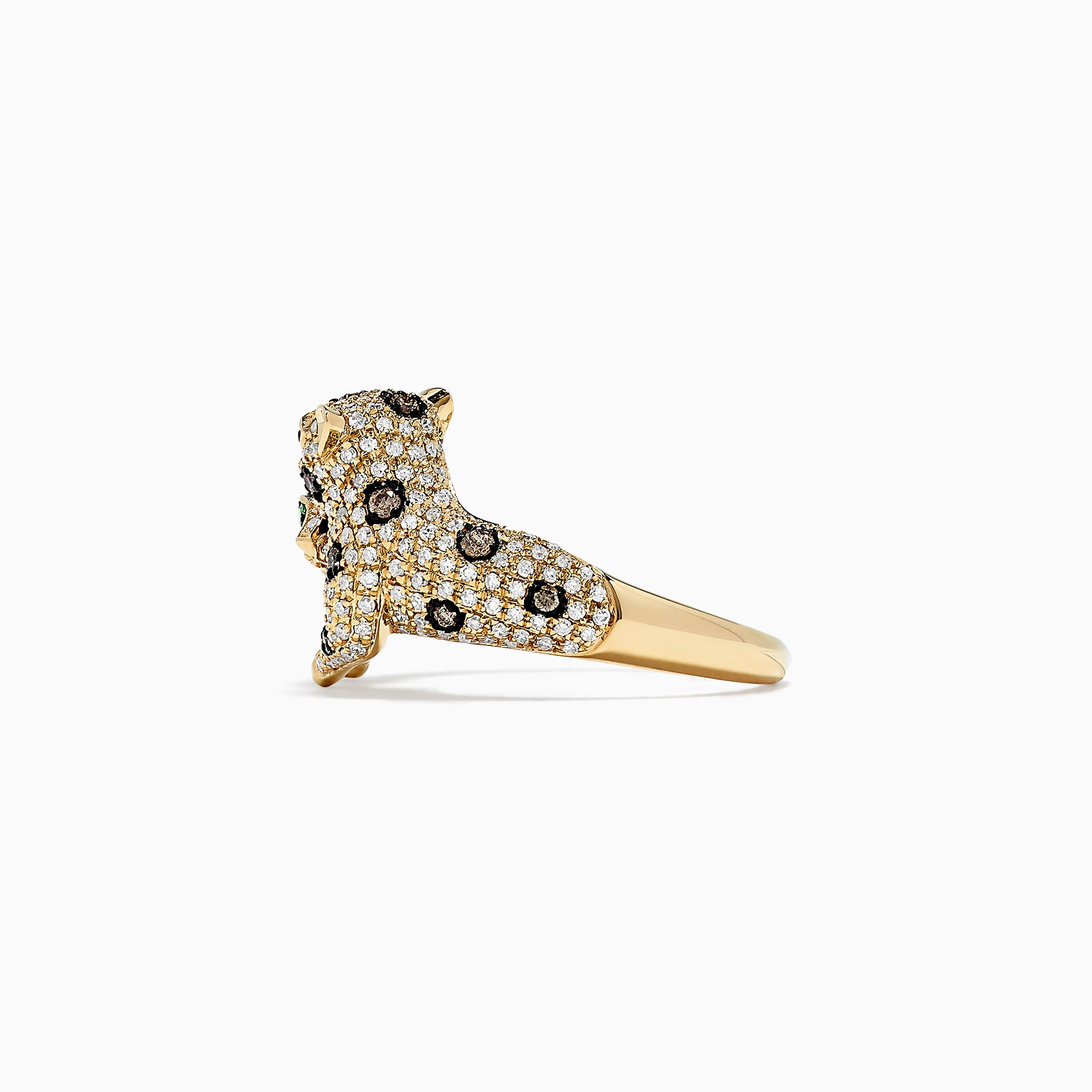 Effy Signature 14K Yellow Gold Diamond Double Panther Ring, 0.97 TCW