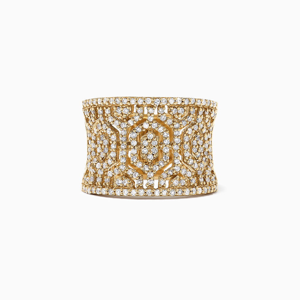Effy D'Oro 14K Yellow Gold Diamond Maze Ring, 0.79 TCW