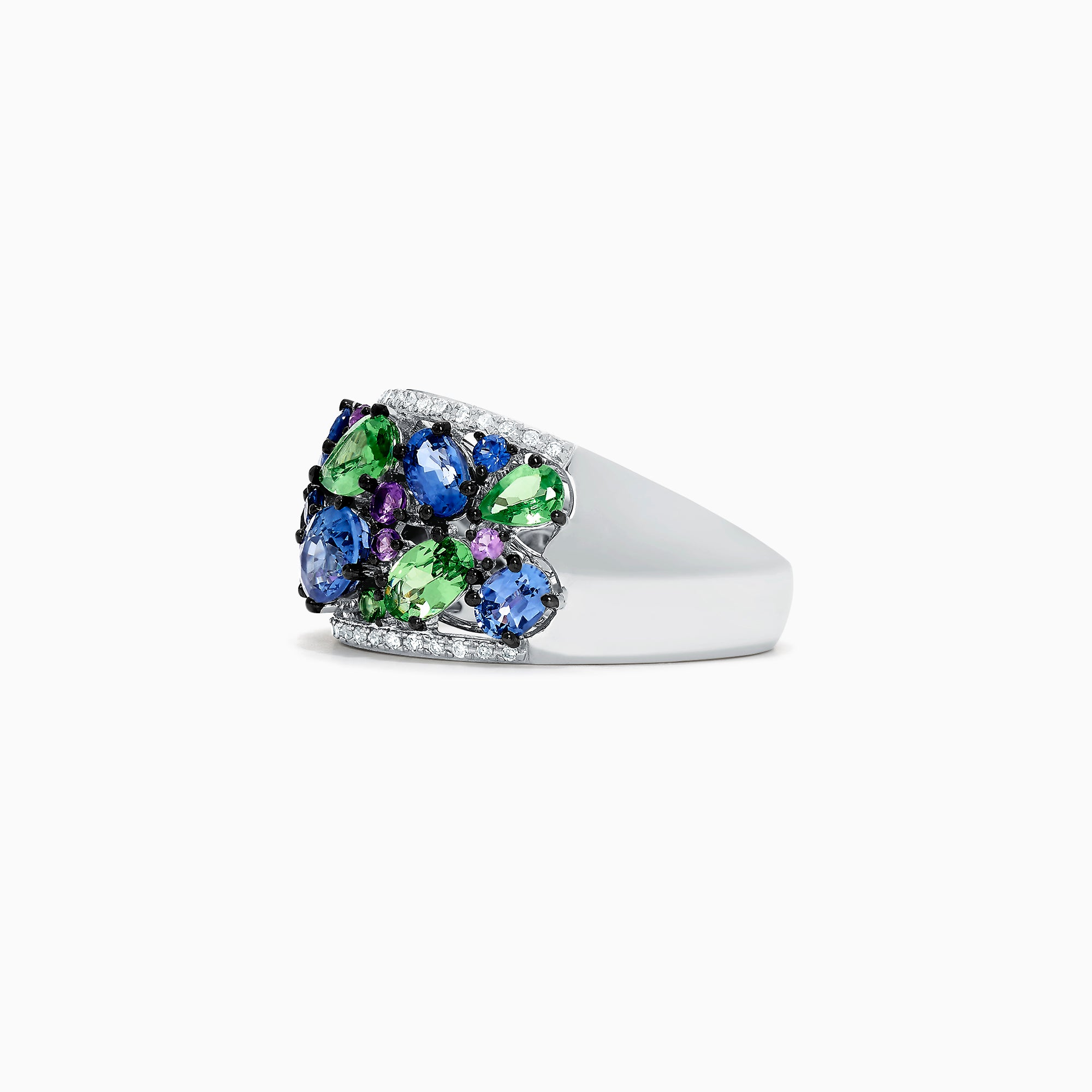 Effy Watercolors 14K White Gold Multi Gemstone and Diamond Ring, 3.52 TCW