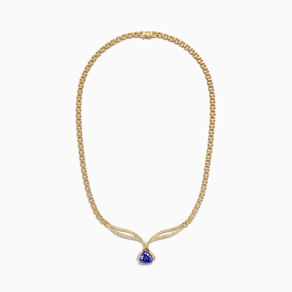 Effy 18K Yellow Gold Tanzanite and Diamond Necklace, 3.52 TCW