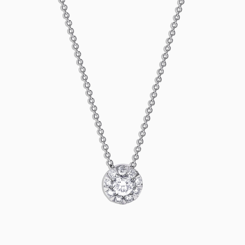 Effy Bouquet 14K White Gold and Diamond Pendant, 0.52 TCW