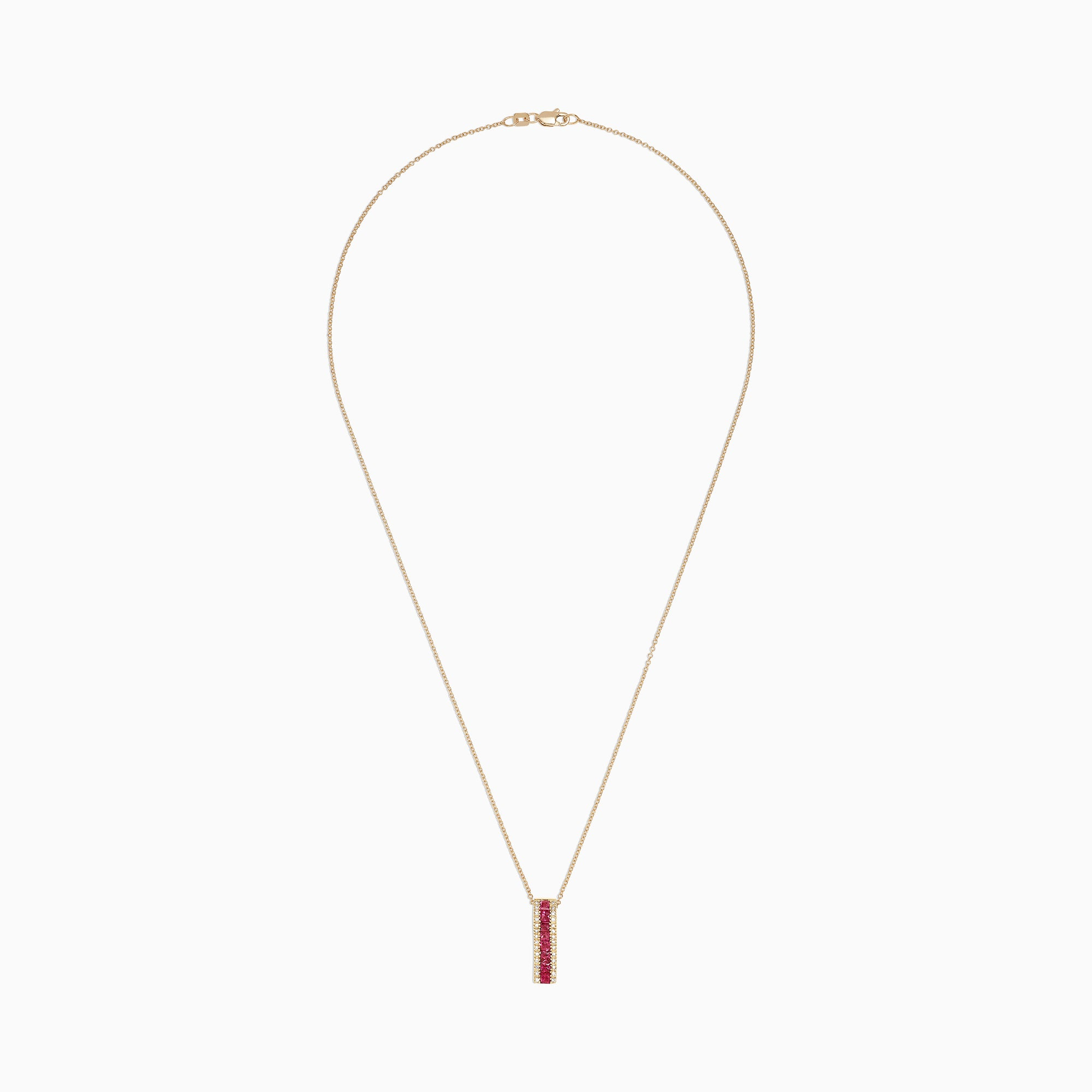 Effy Ruby Royale 14K Yellow Gold Ruby & Diamond Pendant, 1.17 TCW