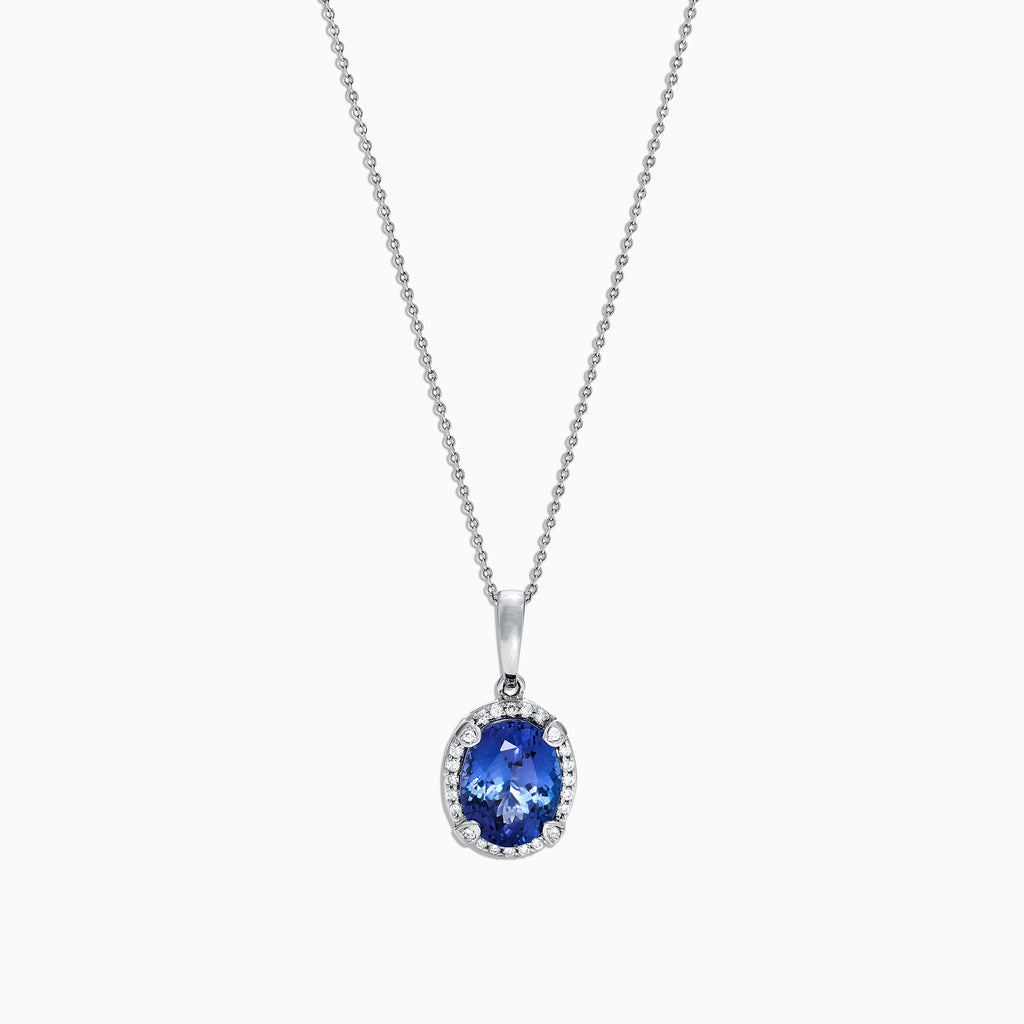 Effy Gemma 14K White Gold Tanzanite and Diamond Pendant, 2.97 TCW