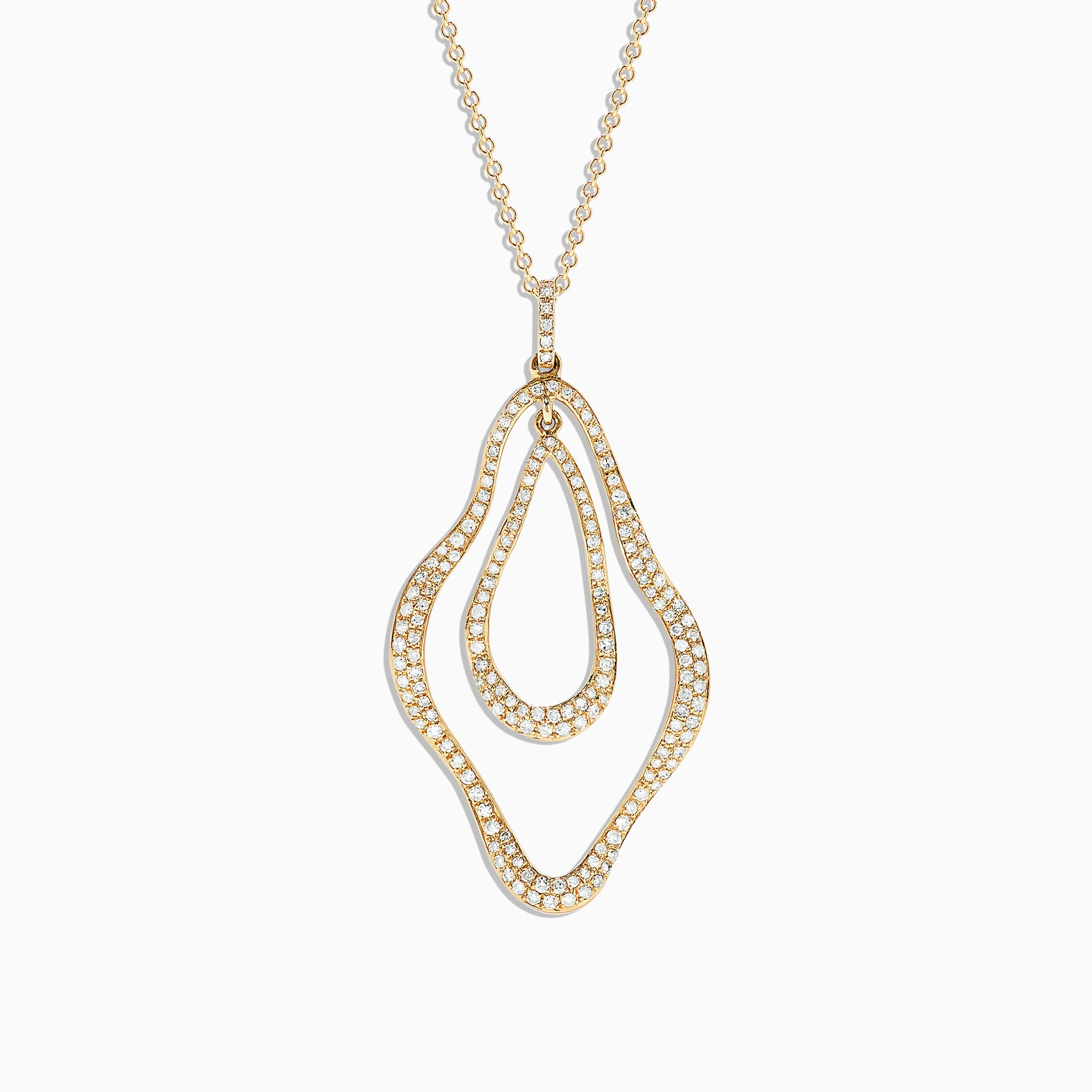 Effy 14K Yellow Gold Diamond Pendant, 0.63 TCW