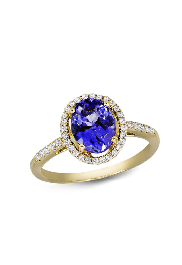 Effy 14K Yellow Gold Tanzanite and Diamond Ring, 2.24 TCW