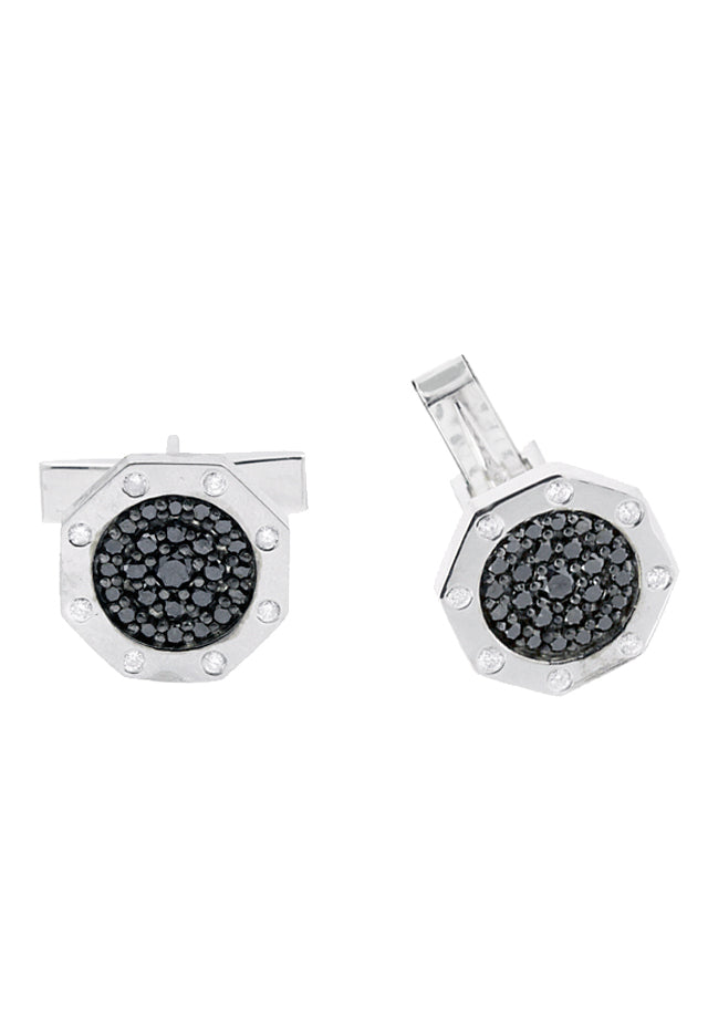 Effy Men's Black Diamond Cufflinks