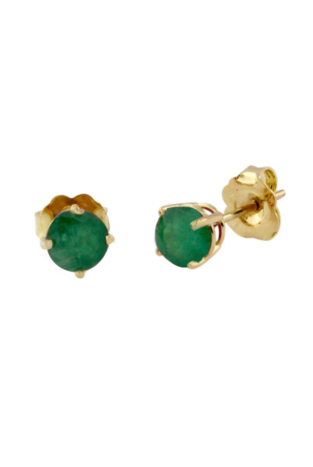 Gemma Emerald Stud Earrings, 0.95 TCW