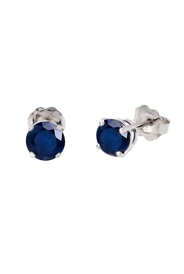 Effy Gemma 14K White Gold Blue Sapphire Stud Earrings, 1.14 TCW