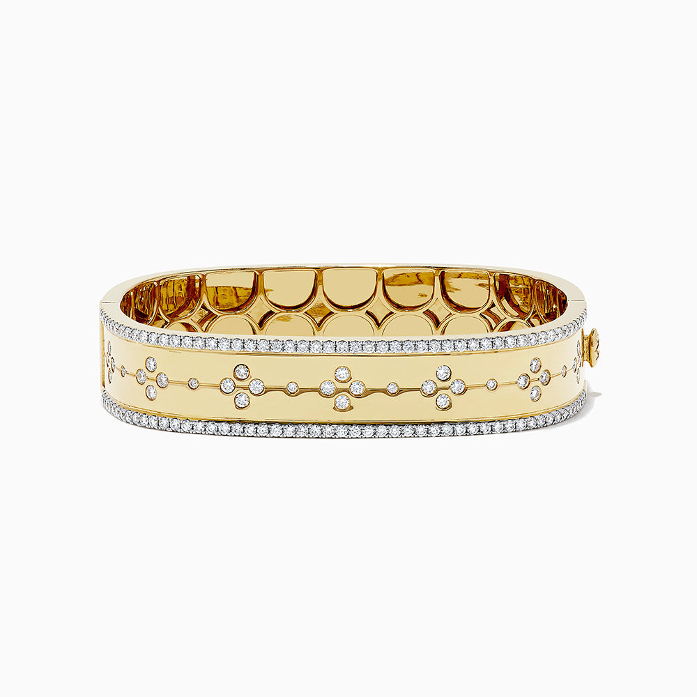 18K Yellow Gold Diamond Bangle, 2.37 TCW