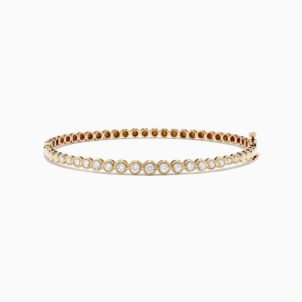 Effy D'Oro 14K Yellow Gold Bezel Set Diamond Bangle, 1.00 TCW