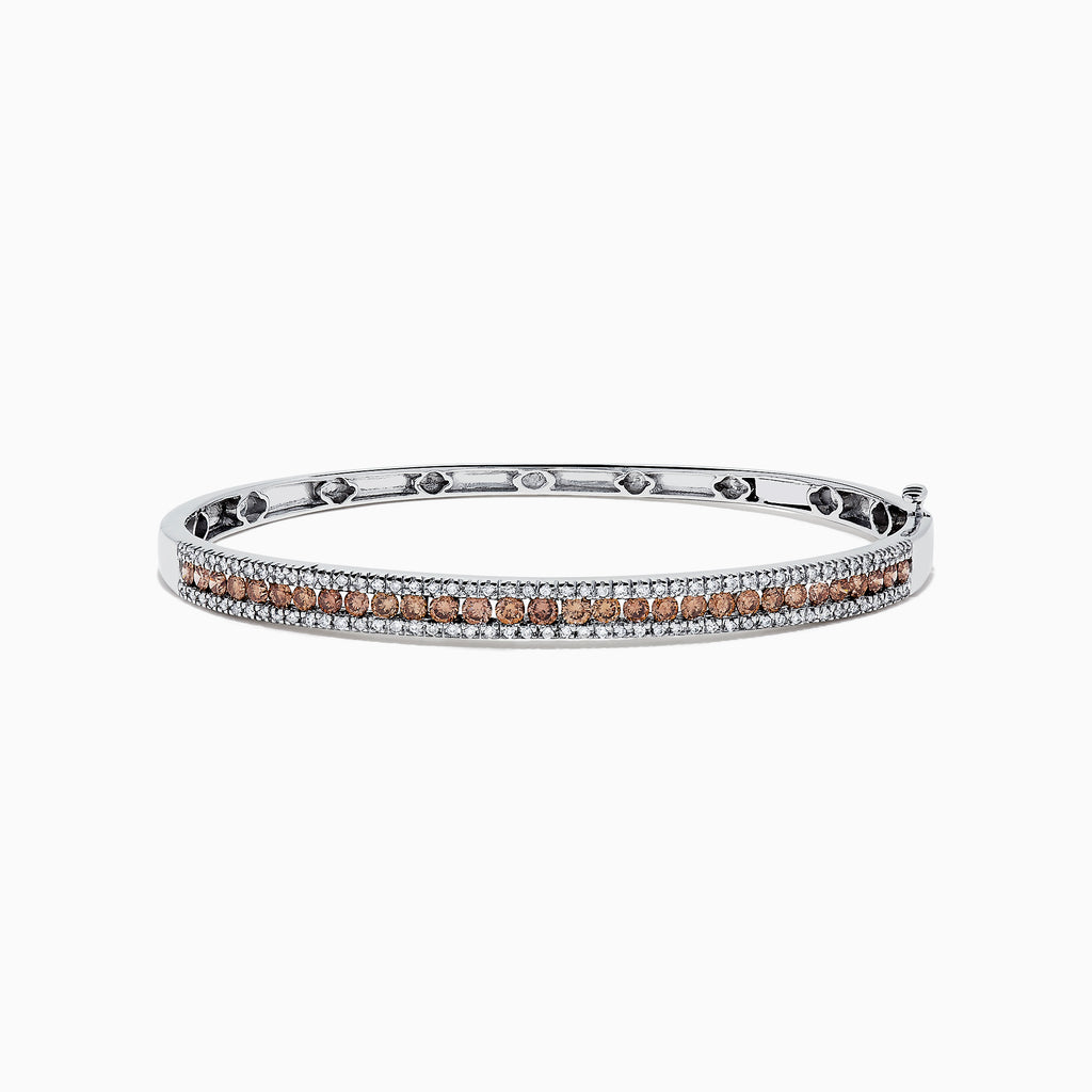 Effy 14K White Gold Espresso and White Diamond Bangle, 2.13 TCW