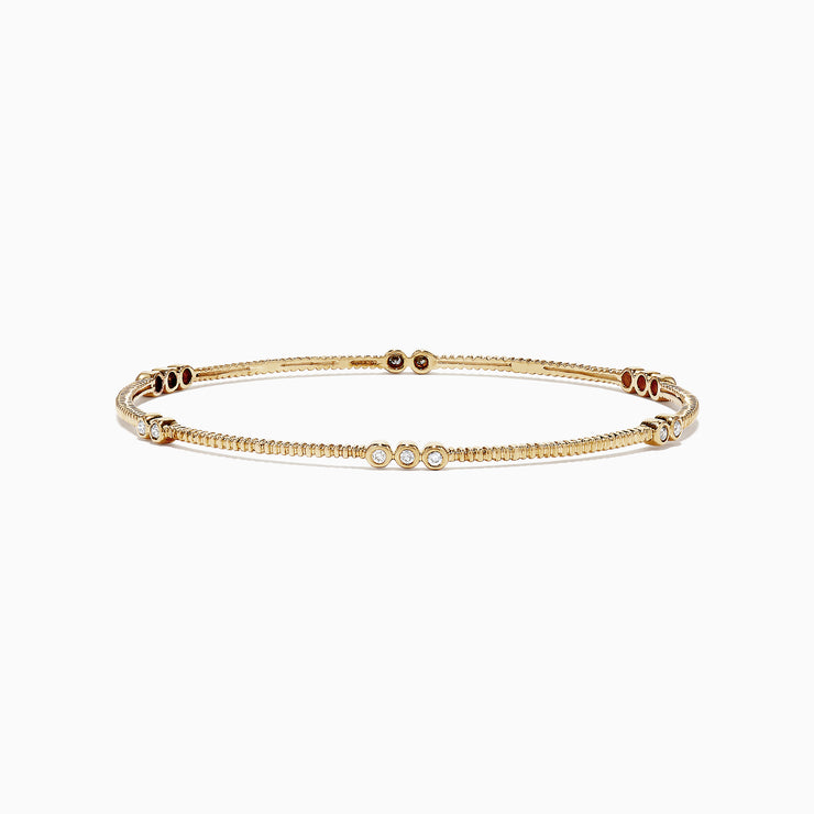 Effy 14K Yellow Gold Diamond Bangle, 0.29 TCW
