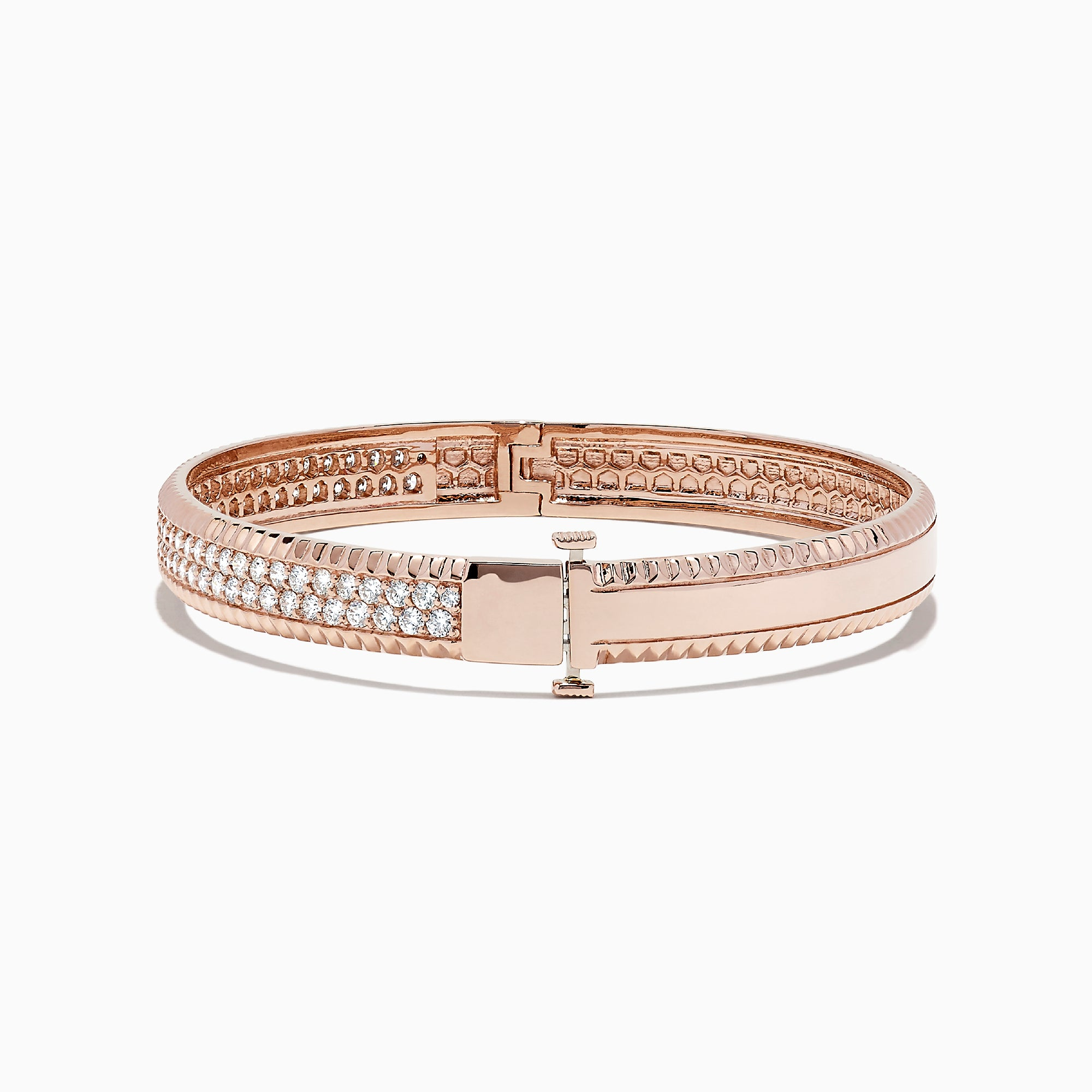 Effy Pave Rose 14K Rose Gold Diamond Bangle, 2.10 TCW