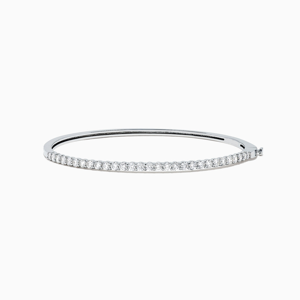 Effy Pave Classica 14K White Gold Diamond Bangle, 1.42 TCW