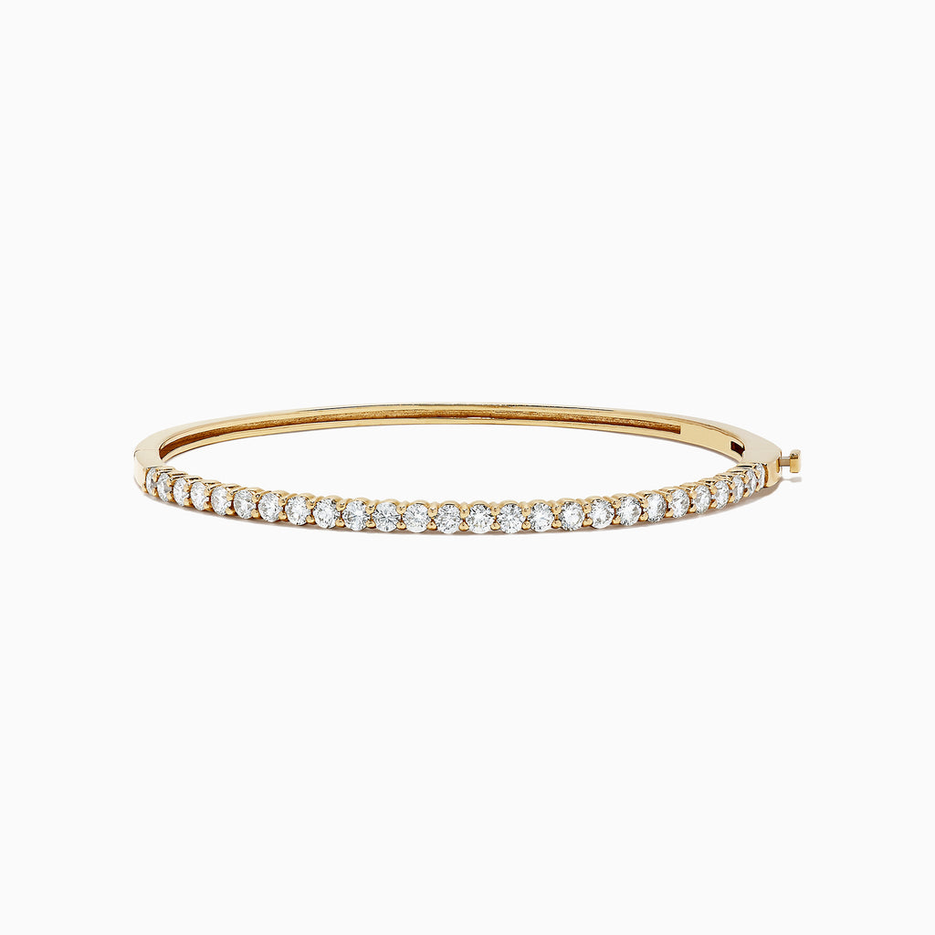 Effy D'Oro 14K Yellow Gold Diamond Bangle, 1.78 TCW