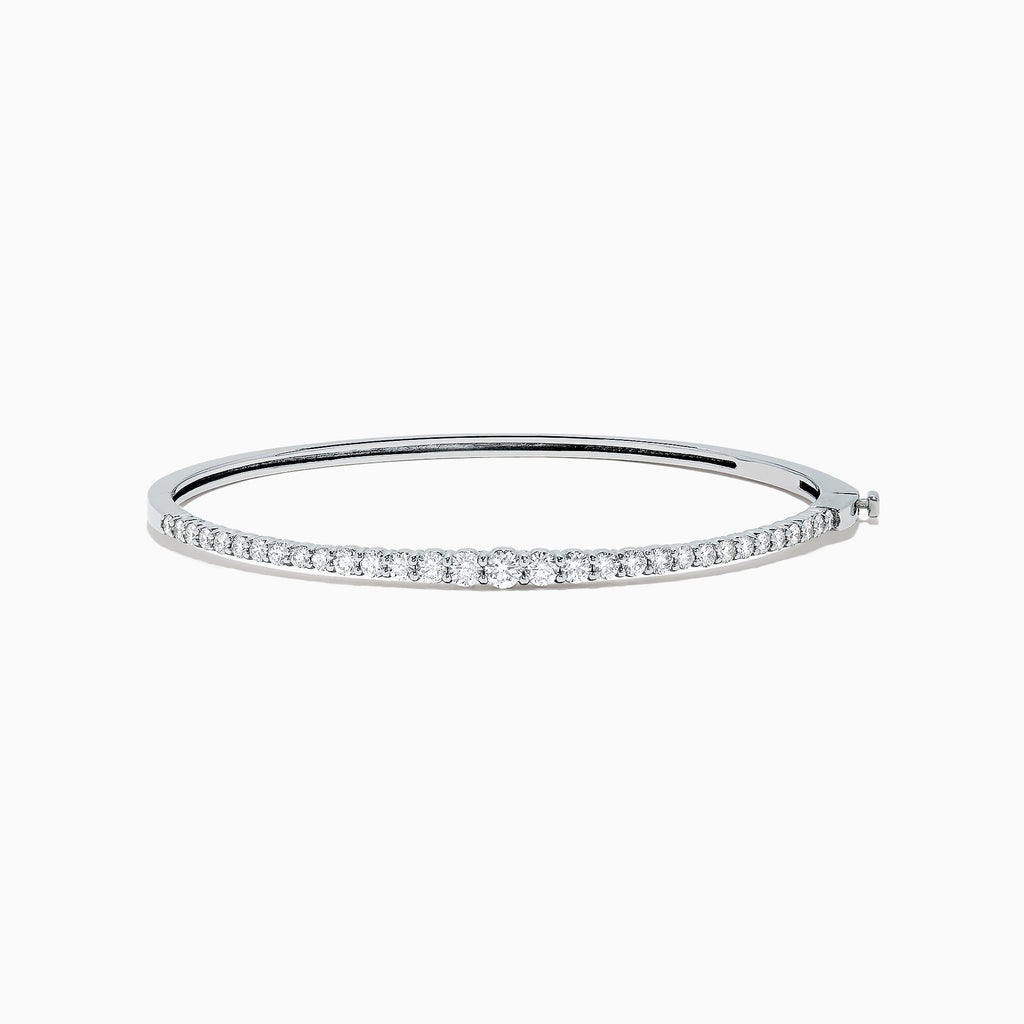 Effy Pave Classica 14K White Gold Diamond Bangle, 1.38 TCW
