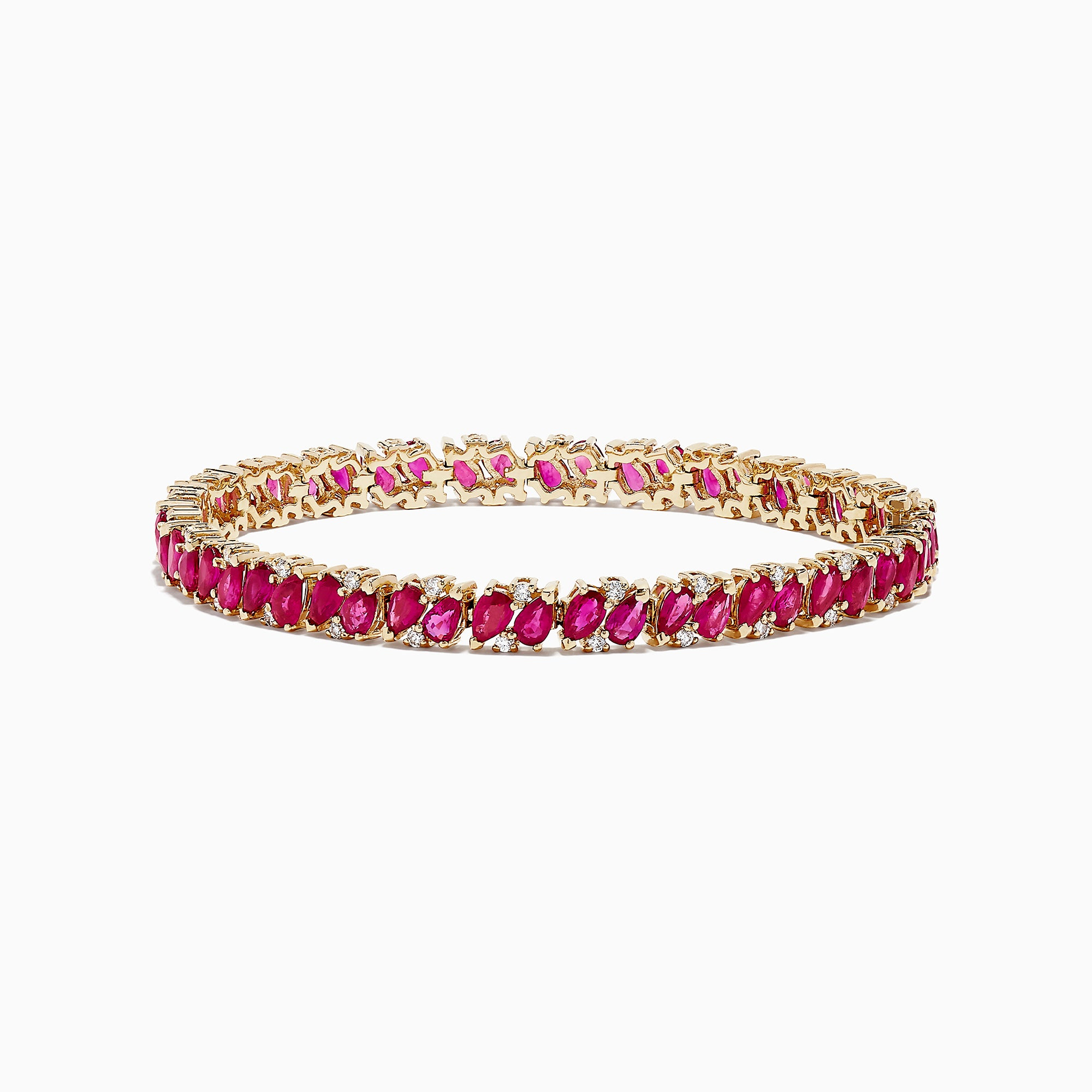Effy Ruby Royale 14K Gold Ruby and Diamond Tennis Bracelet, 15.58 TCW