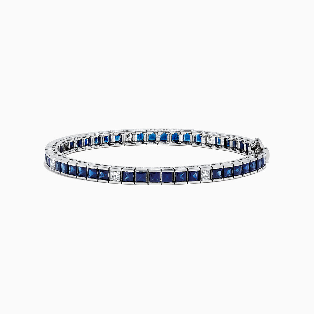 Effy Royale Bleu 14K Gold Blue Sapphire and Diamond Bracelet, 9.68 TCW