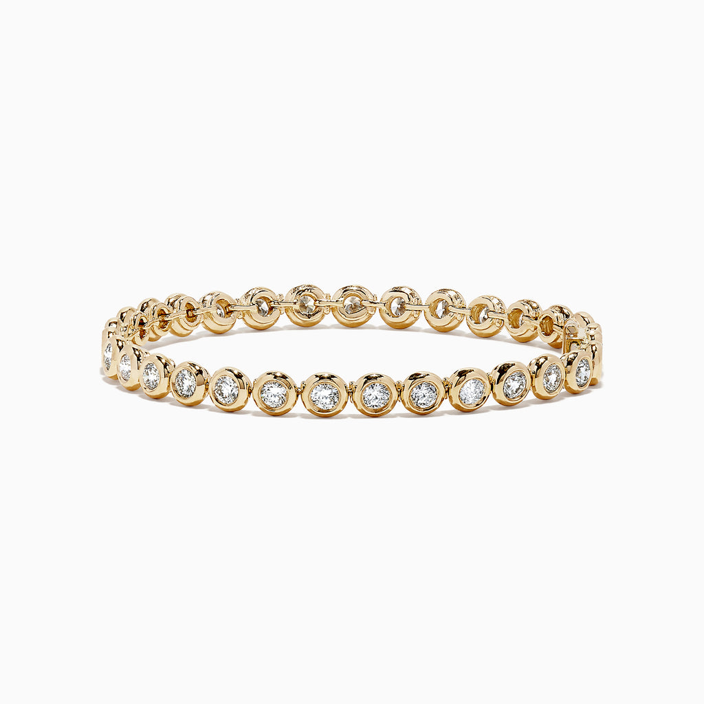 Effy D'Oro 14K Yellow Gold Bezel Set Diamond Tennis Bracelet, 3.65 TCW