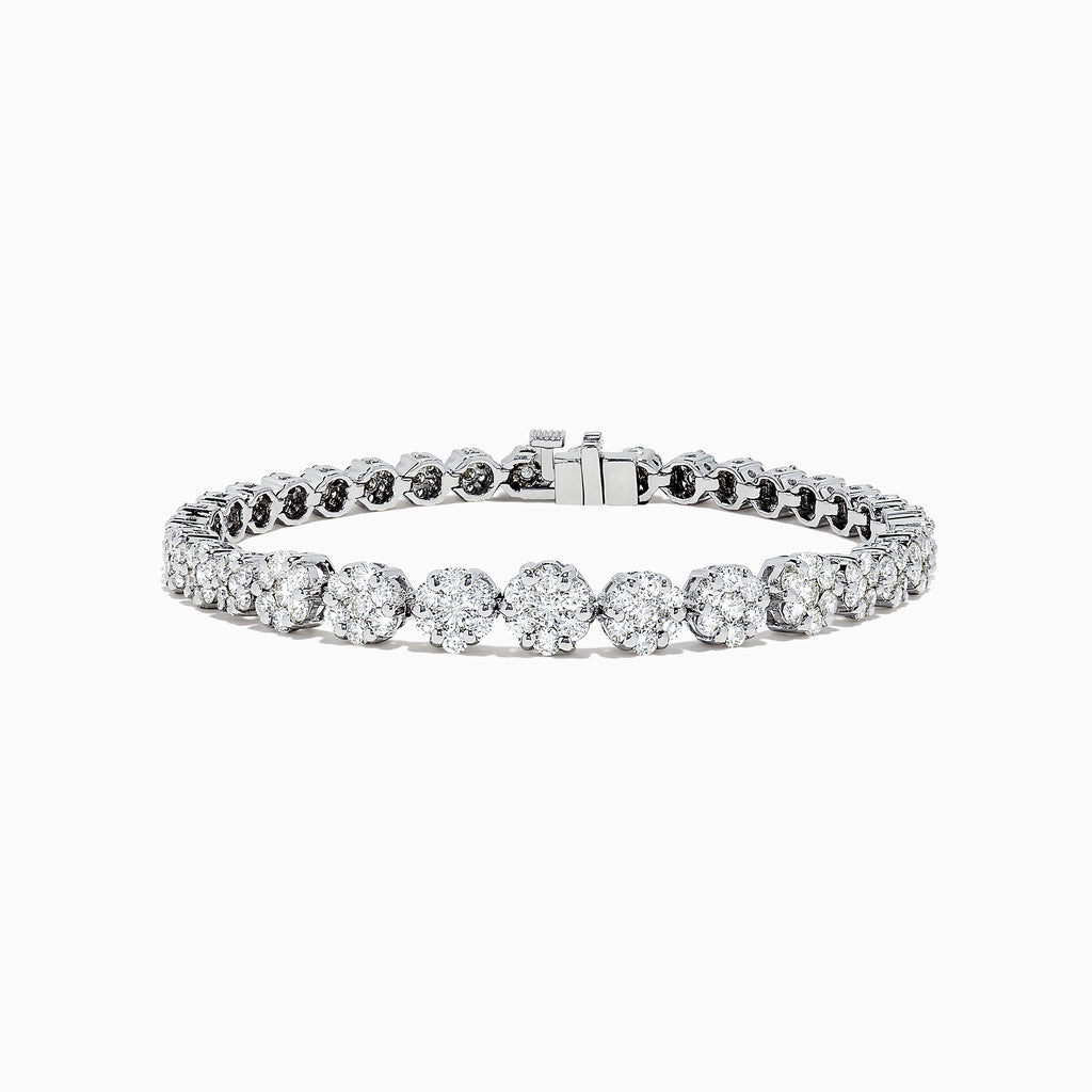 Effy Bouquet 14K White Gold Diamond Tennis Bracelet, 5.03 TCW