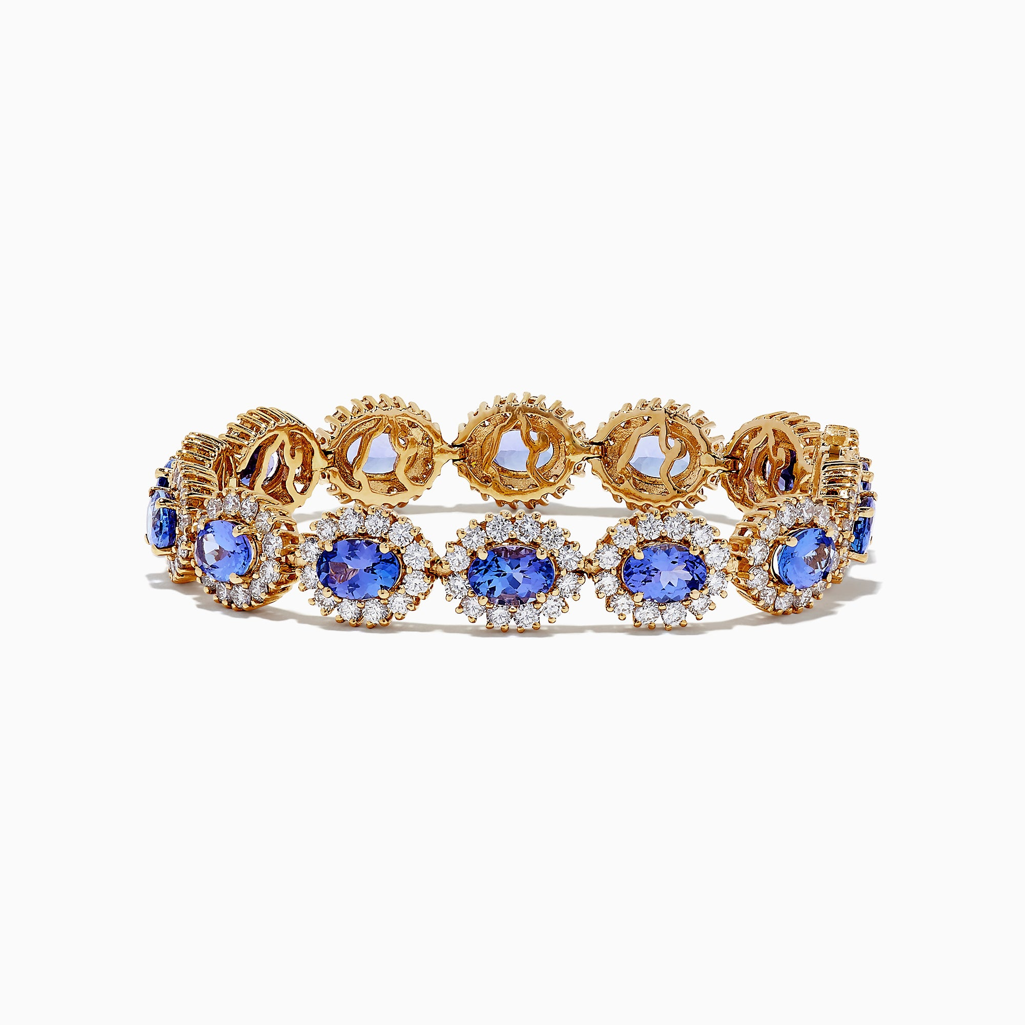 Effy Tanzanite Royale 14K Gold Tanzanite & Diamond Bracelet, 15.90 TCW