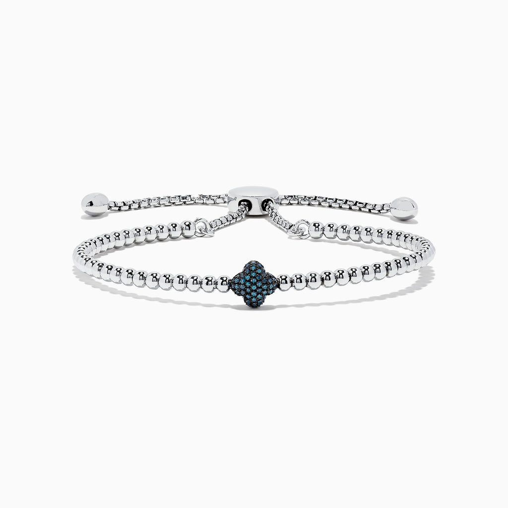 Effy 925 Sterling Silver Blue Diamond Bracelet, 0.21 TCW