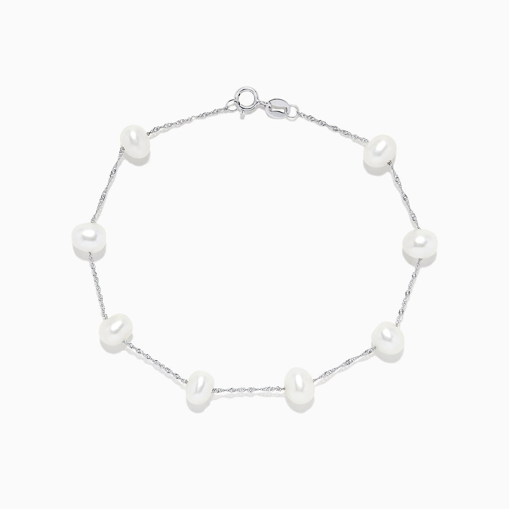 Effy 14K White Gold Cultured Fresh Water Pearl Bracelet