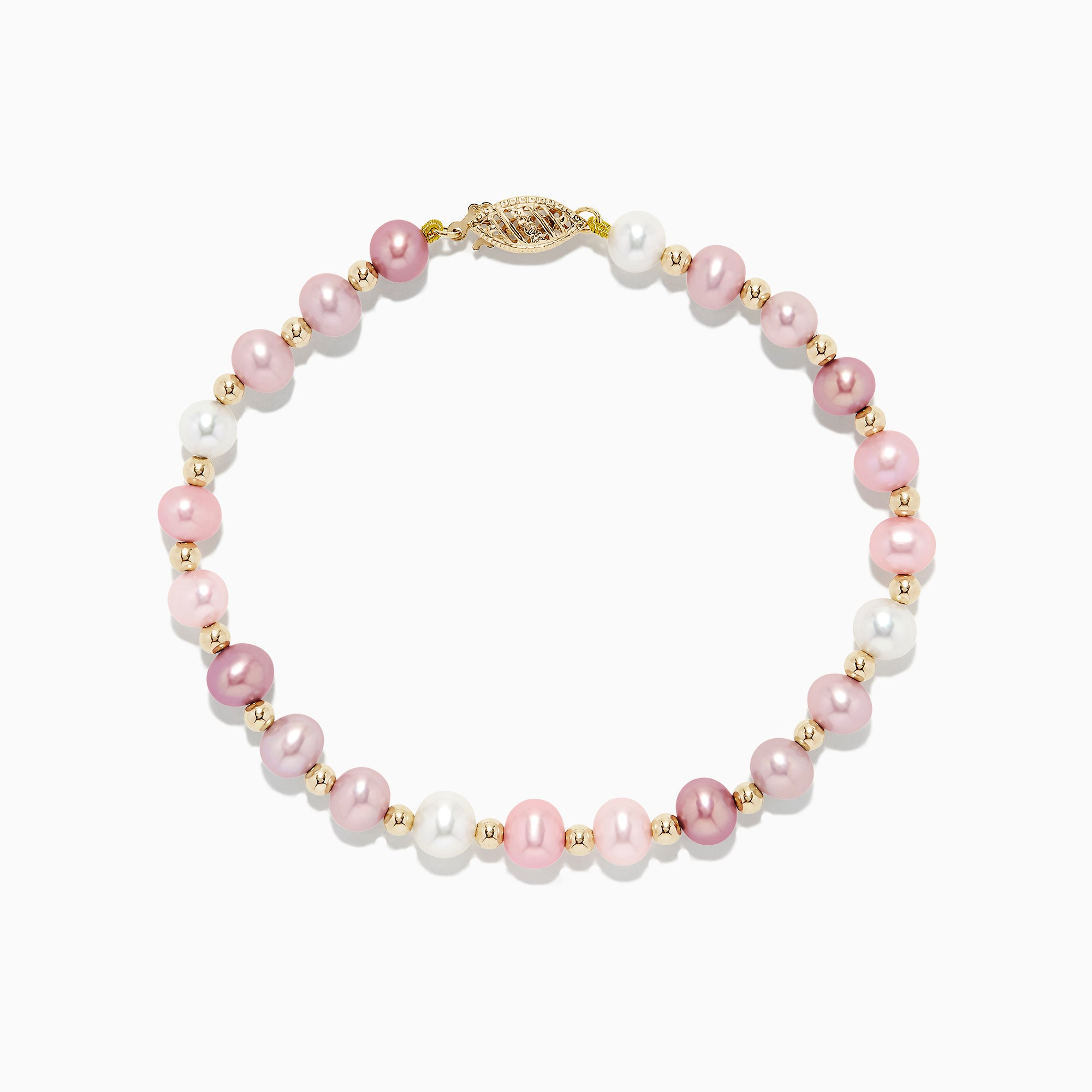 Effy 14K Yellow Gold Multicolor Cultured Pearl Necklace