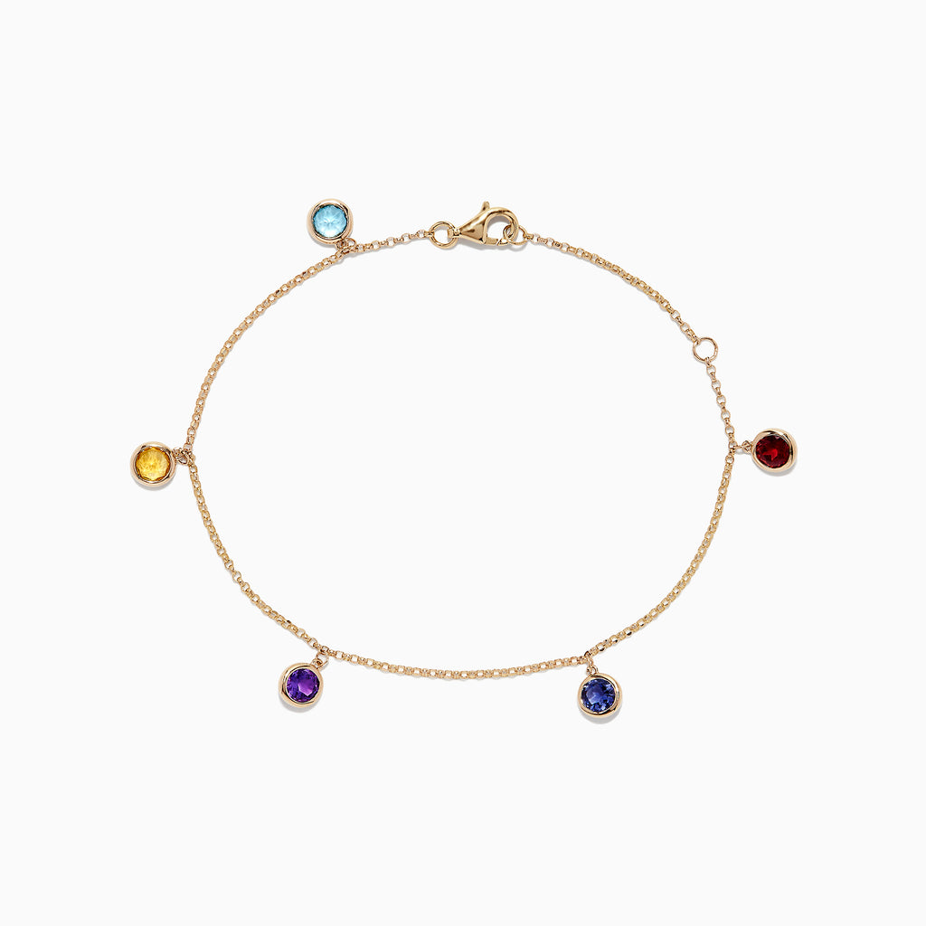 Effy Mosaic 14K Yellow Gold Multi Gemstone Bracelet, 1.22 TCW