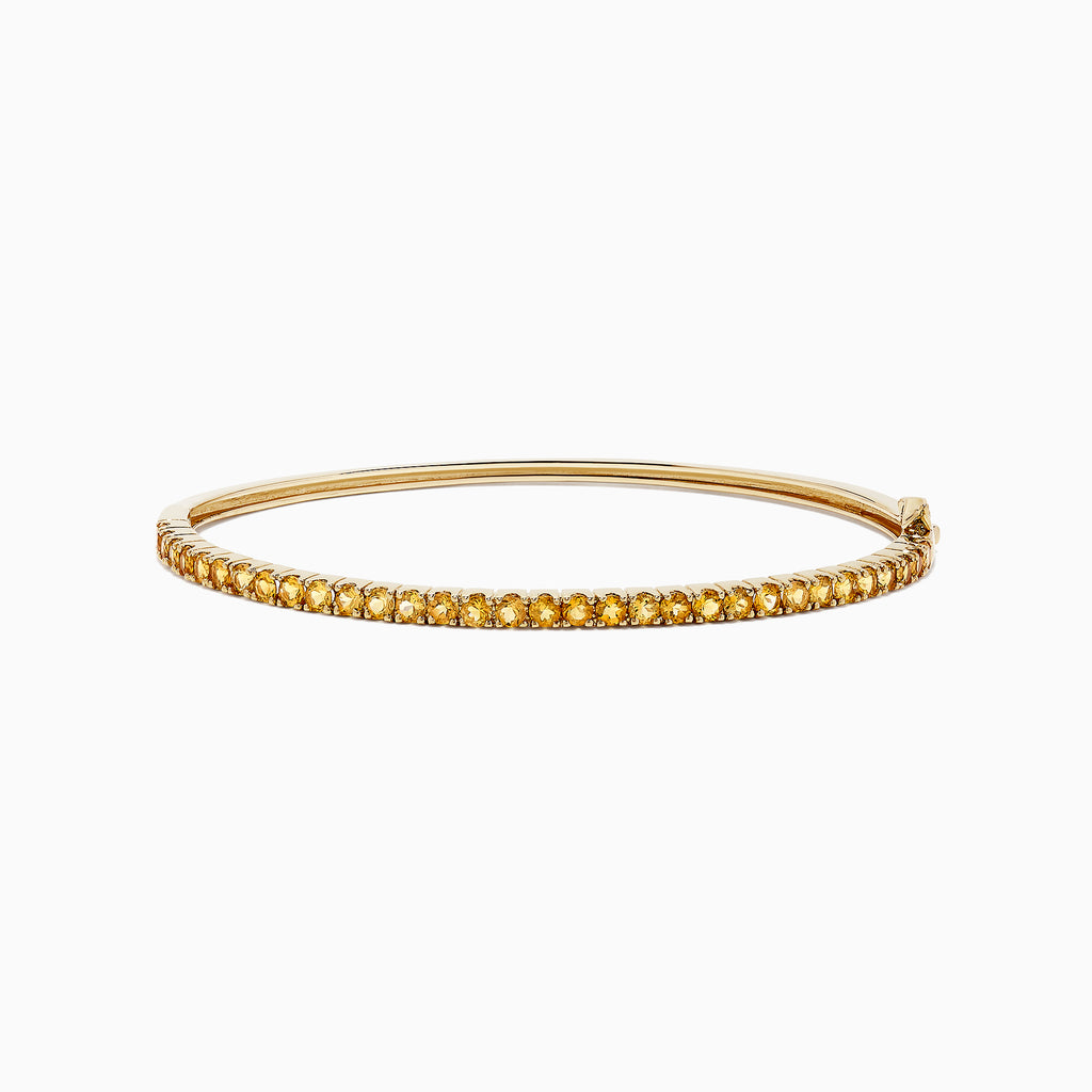 Effy 14K Yellow Gold Citrine Bangle, 1.82 TCW