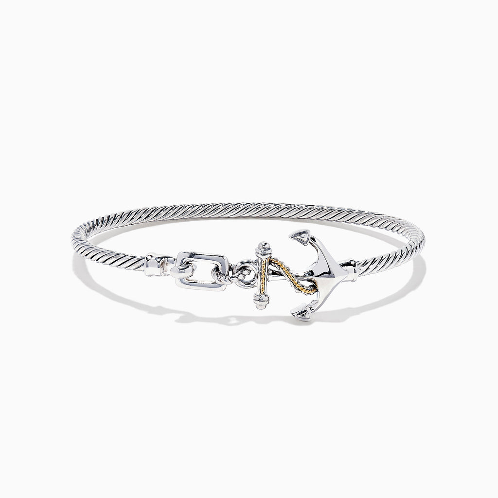 Effy Seaside Sterling Silver & 18K Gold Anchor Bangle