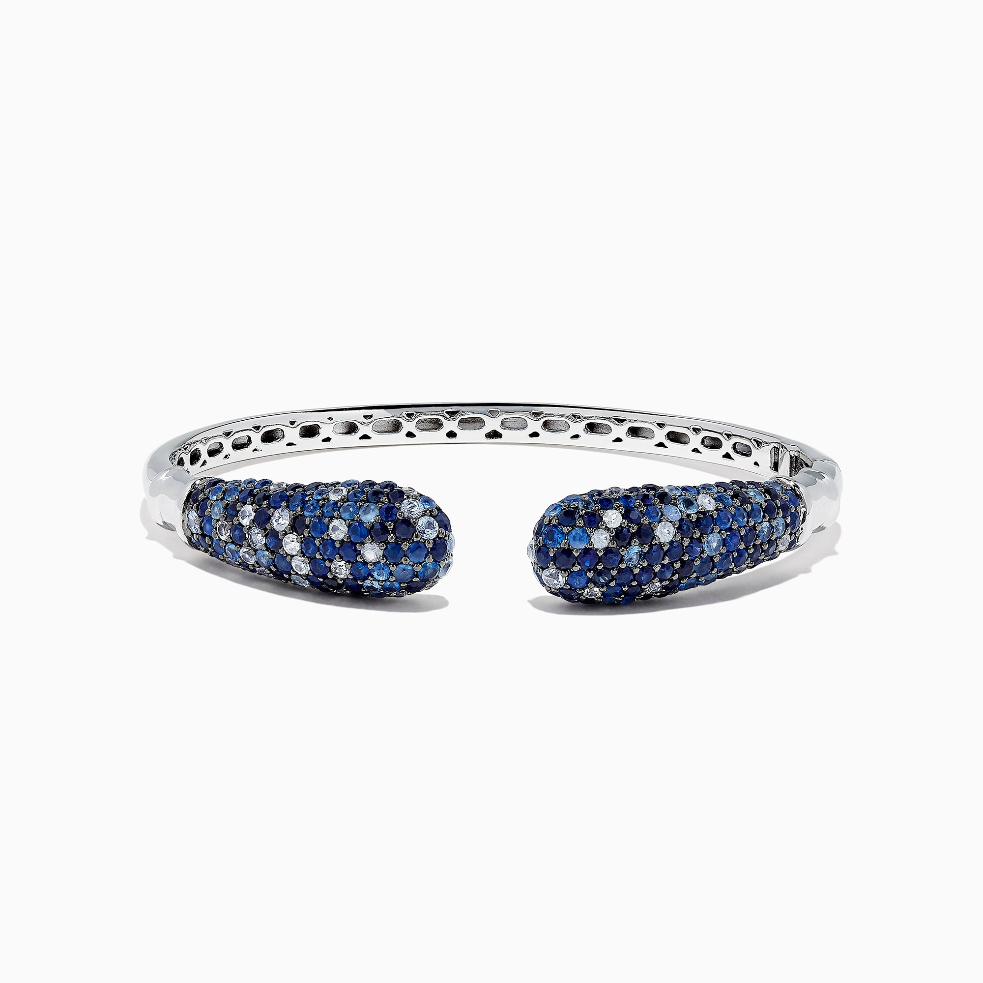 Effy Splash Sterling Silver Blue Sapphire Bangle, 7.75 TCW