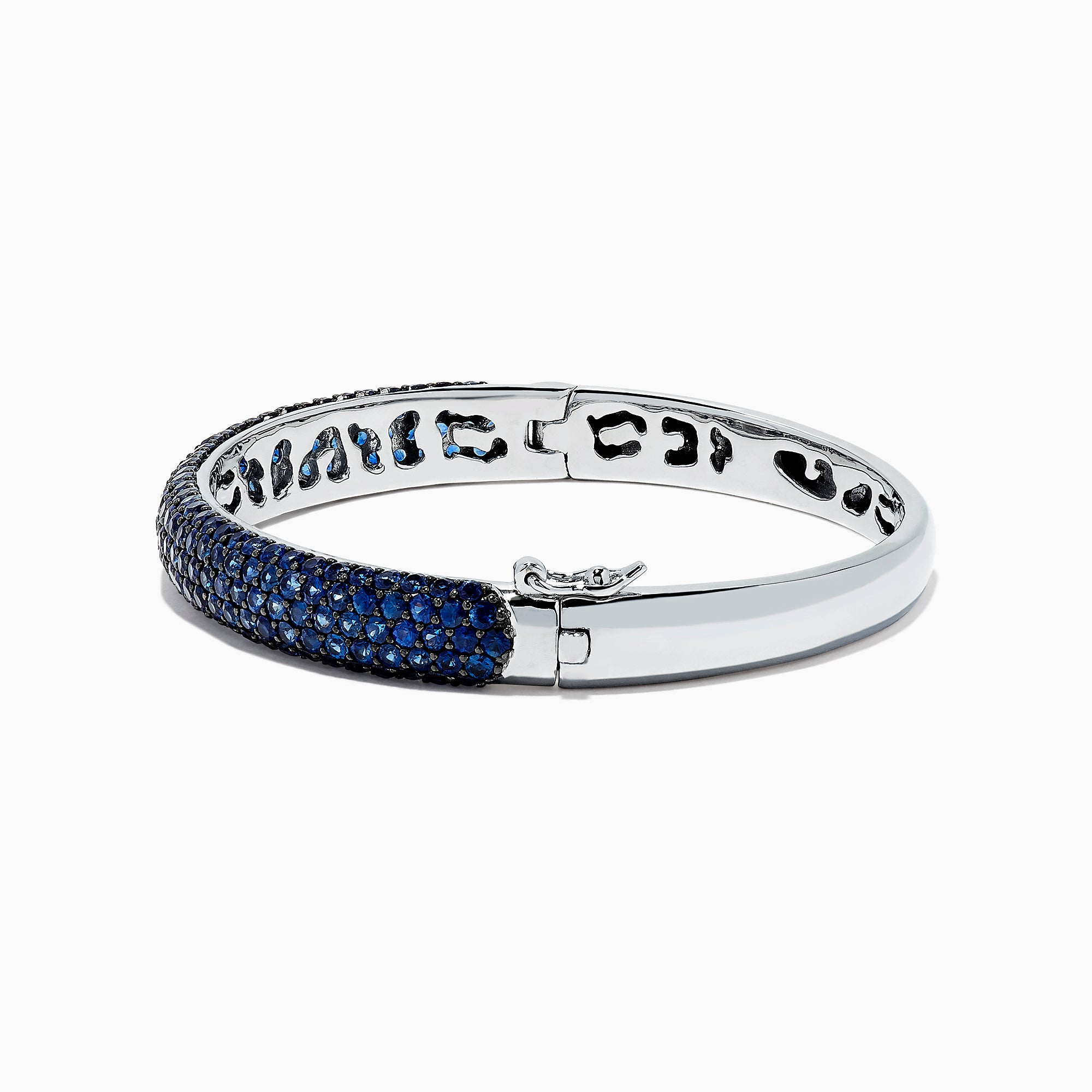 Effy 925 Sterling Silver Blue Sapphire Bangle, 11.15 TCW