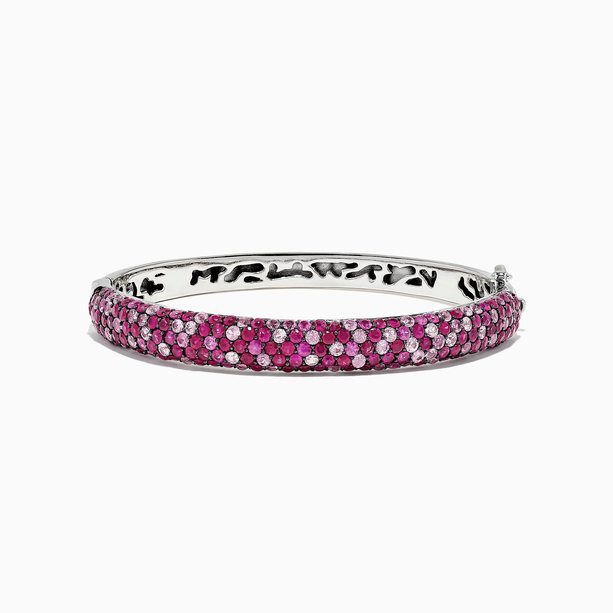Effy Splash Sterling Silver Pink Sapphire and Ruby Bangle, 10.19 TCW