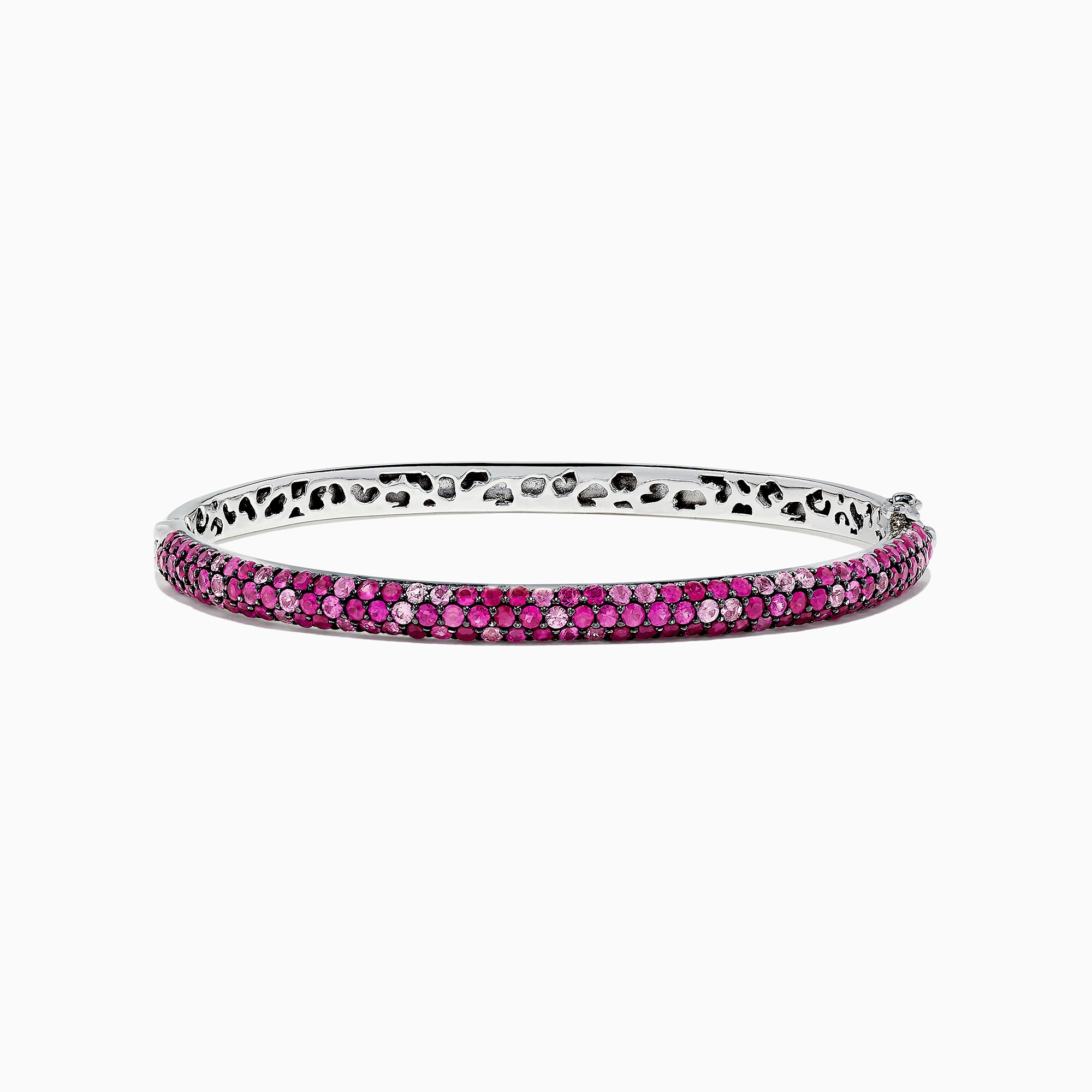 Effy Splash Sterling Silver Pink Sapphire and Ruby Bangle, 4.24 TCW