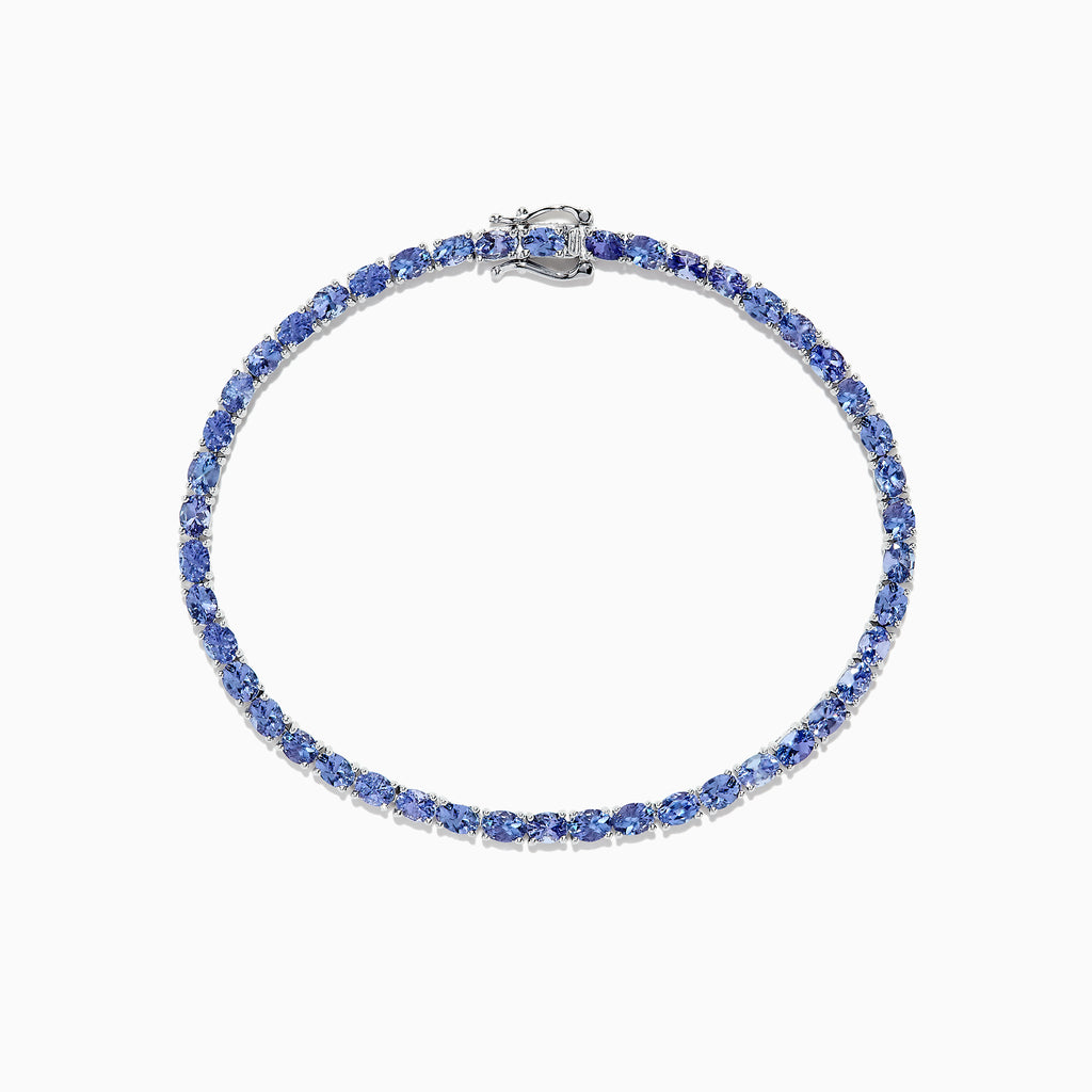 Effy Tanzanite Royale Sterling Silver Tanzanite Tennis Bracelet, 6.65 TCW