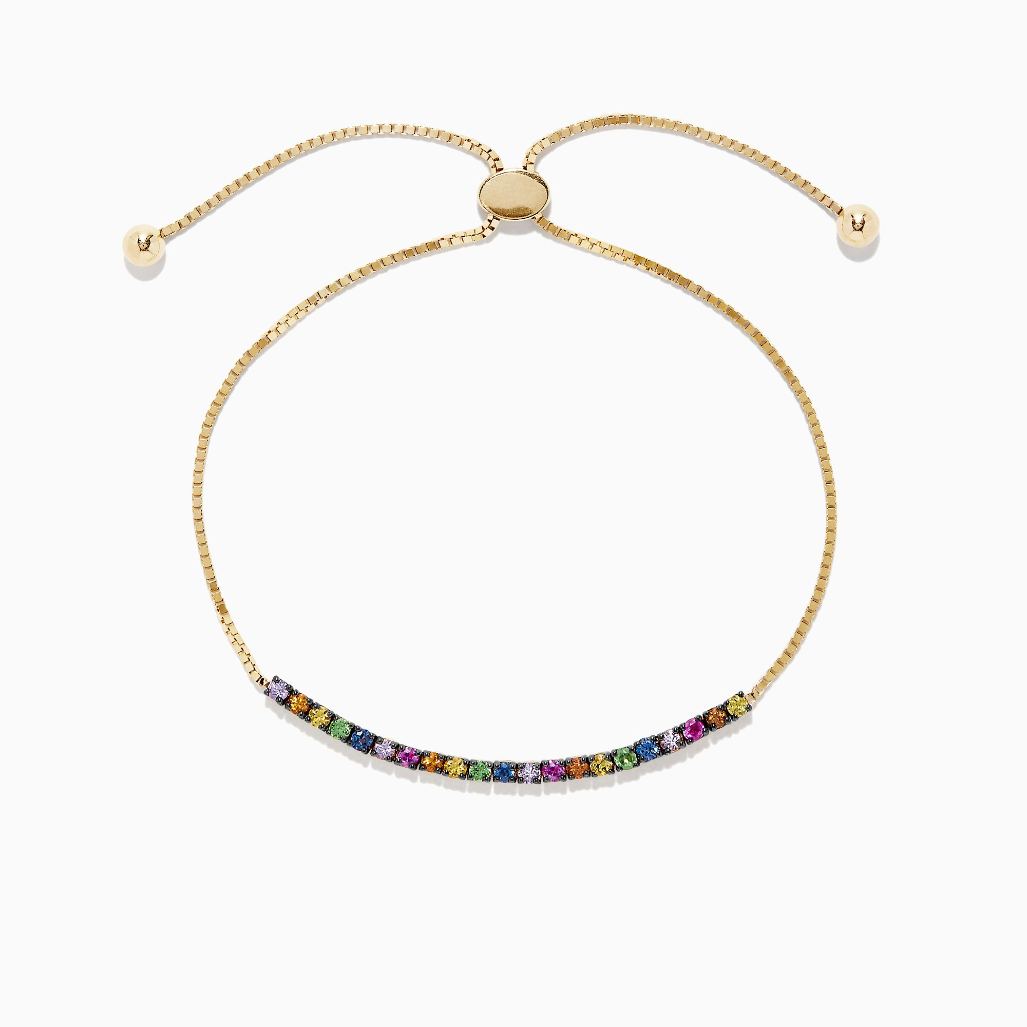 Effy Watercolors 14K Yellow Gold Multi Sapphire Bracelet, 1.00 TCW