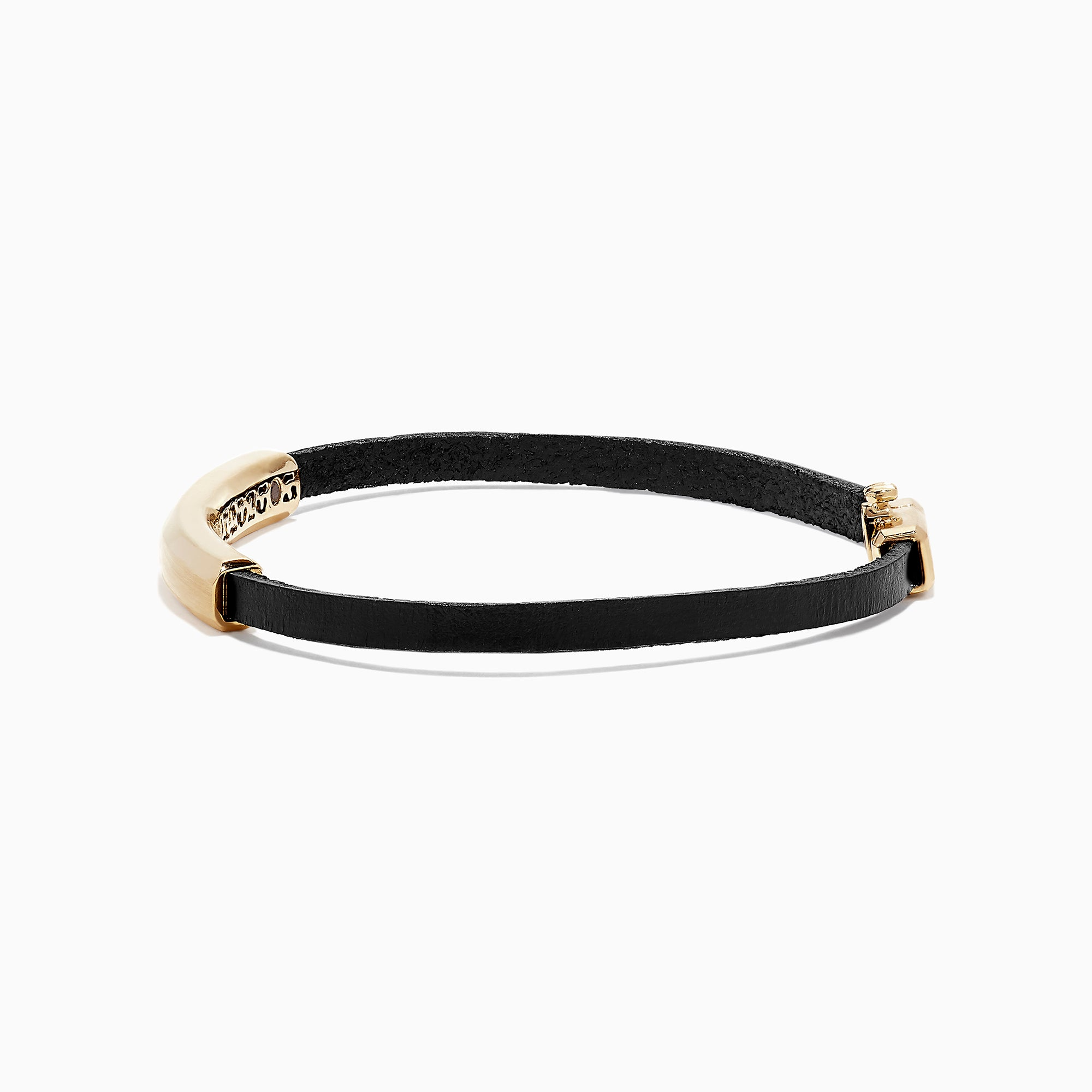Effy Men's 14K Yellow Gold and Leather Bracelet