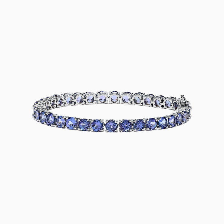 Effy Tanzanite Royale Sterling Silver Tanzanite Tennis Bracelet, 15.60 TCW