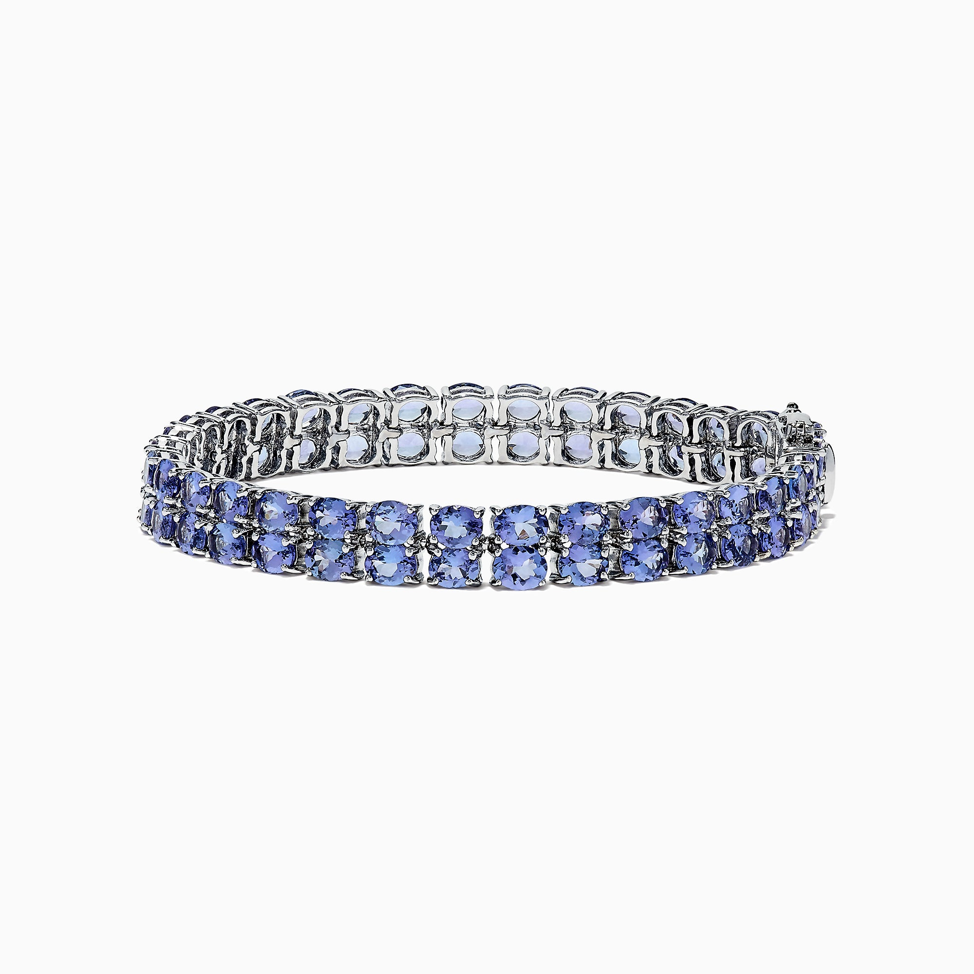 Effy Tanzanite Royale Sterling Silver Tanzanite Tennis Bracelet, 19.80 TCW