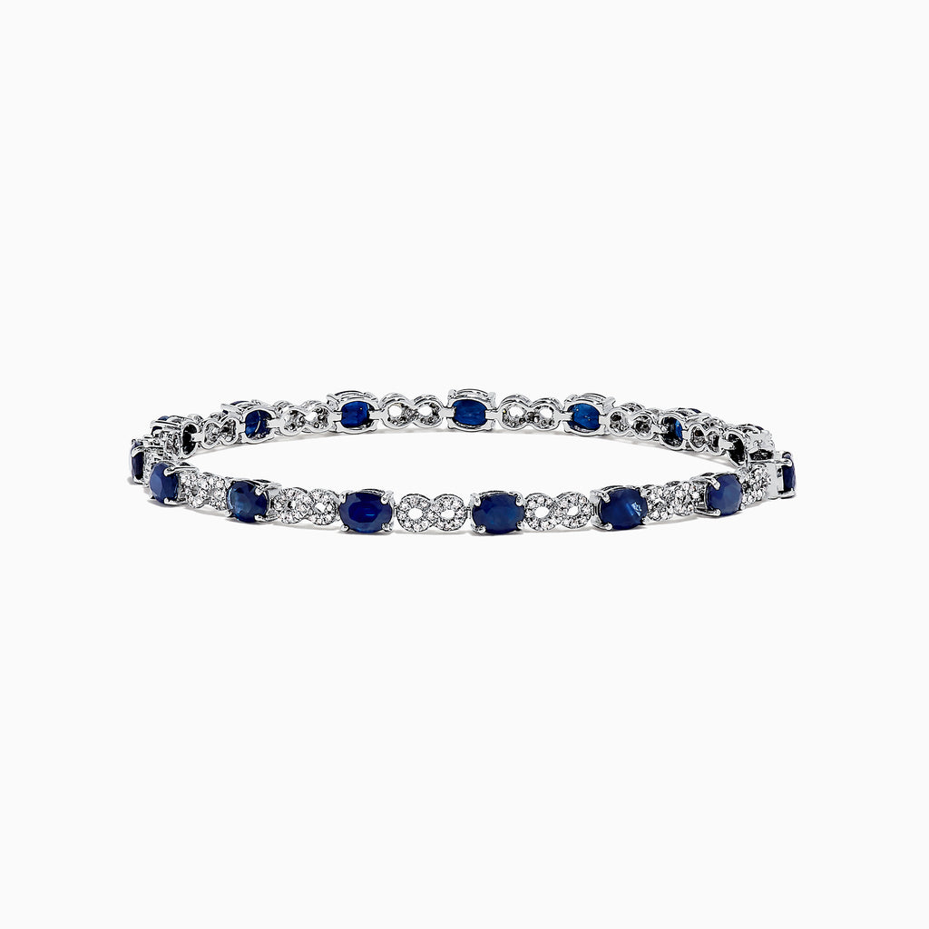 Effy Royale Bleu 14K Gold Sapphire and Diamond Tennis Bracelet, 6.85 TCW