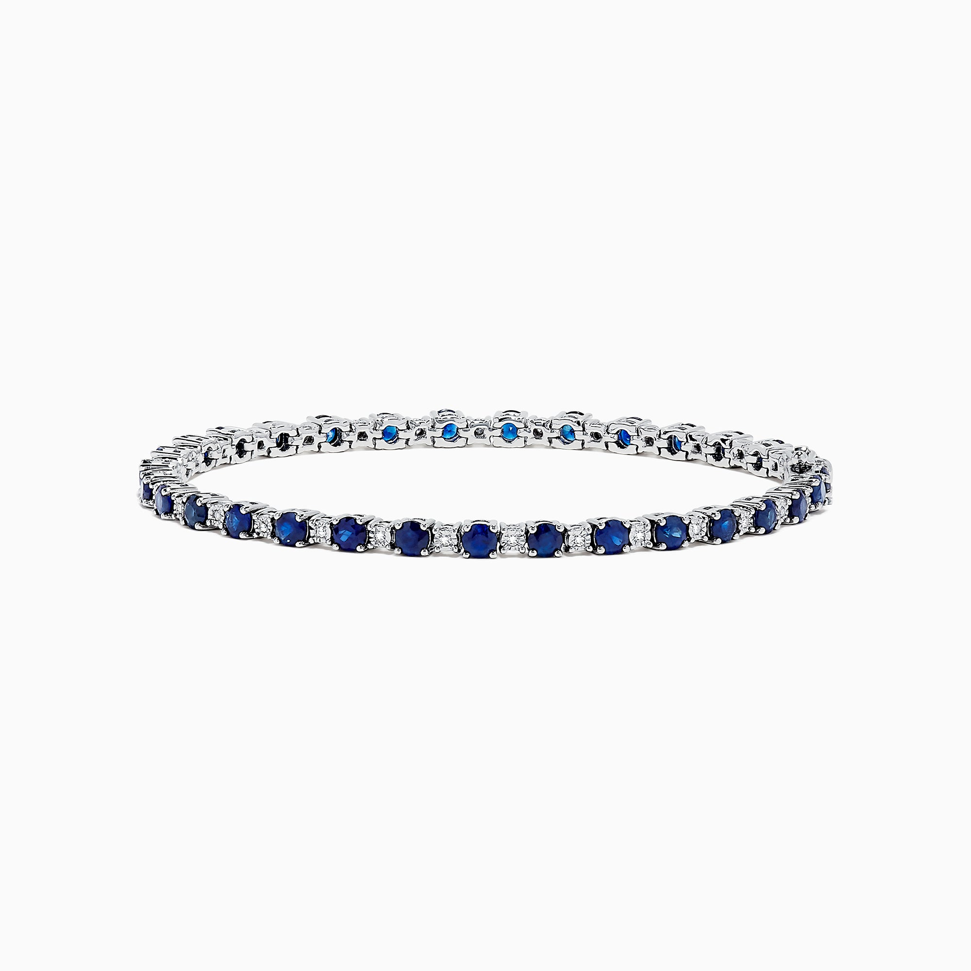 Effy Royale Bleu 14K Gold Sapphire and Diamond Tennis Bracelet, 4.24 TCW