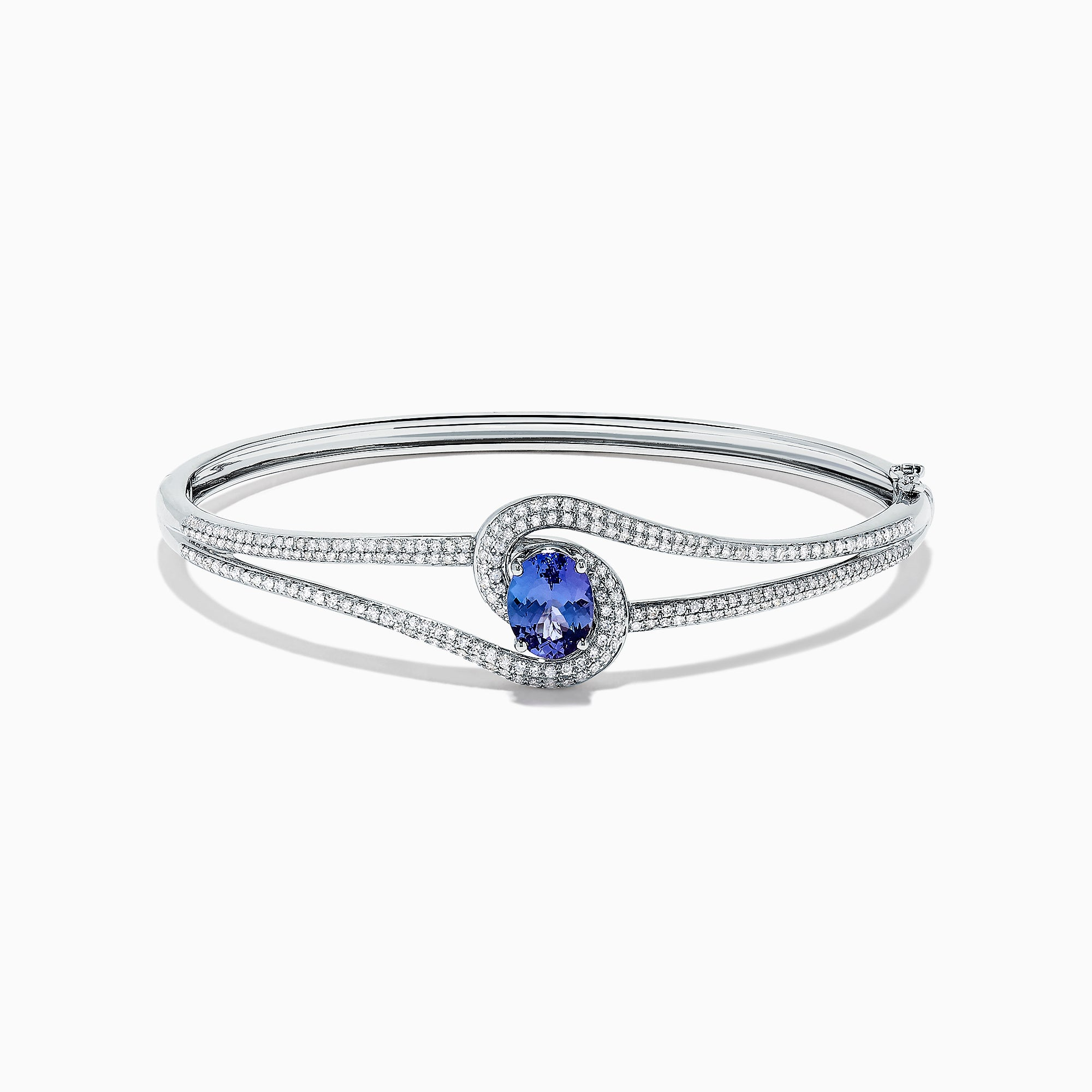 Effy Tanzanite Royale 14K White Gold Tanzanite and Diamond Bangle, 2.61 TCW