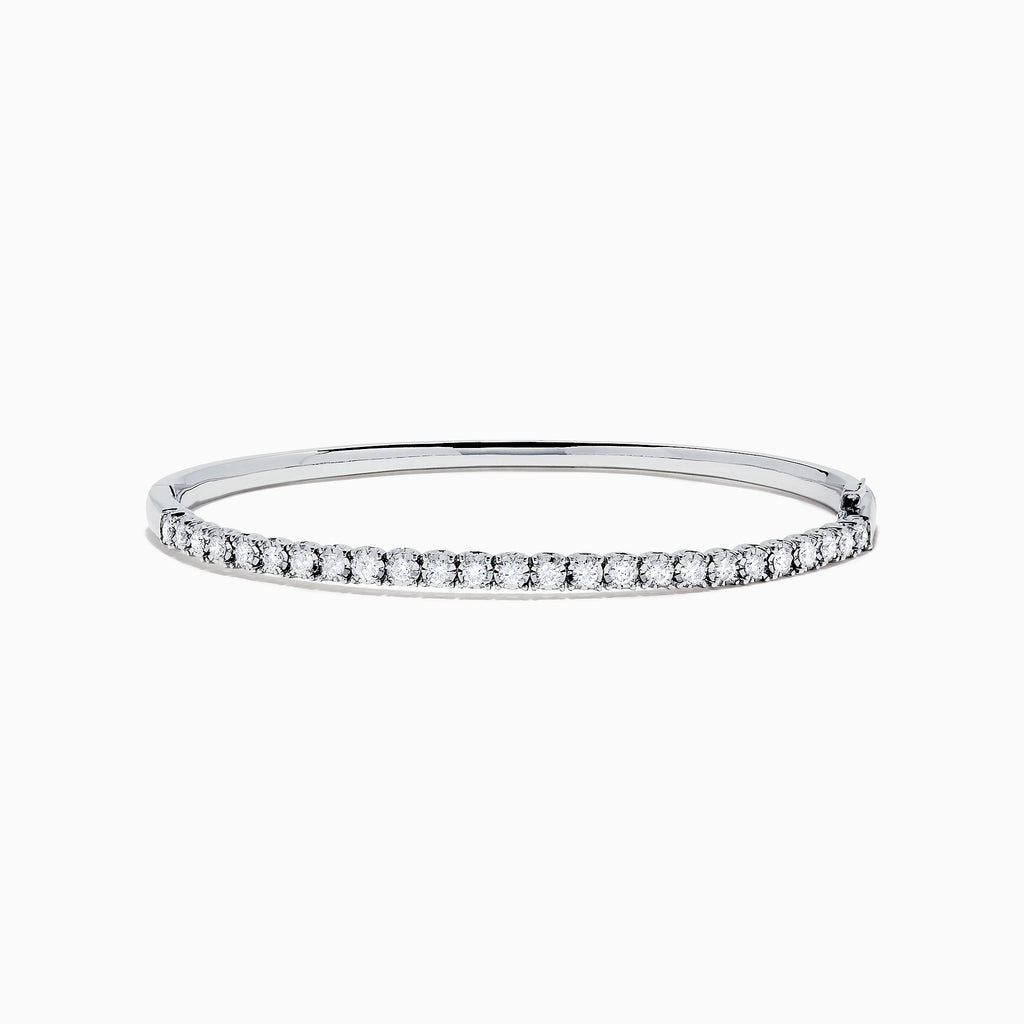 Effy Pave Classica 14K White Gold Diamond Bangle, 0.98 TCW