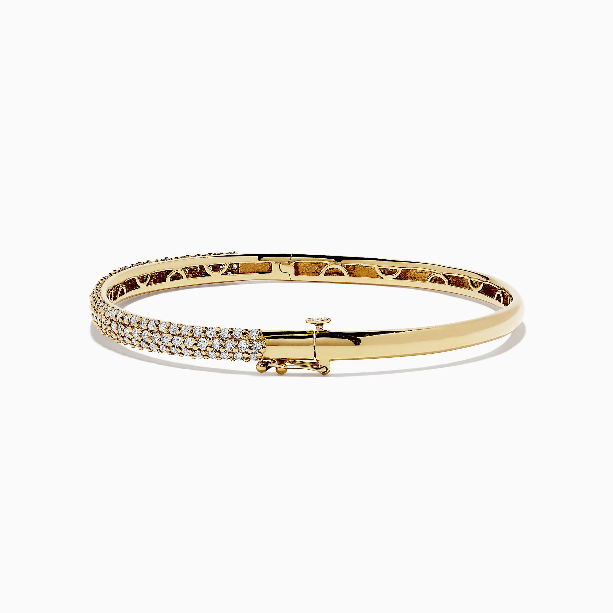 Effy 14K Yellow Gold Diamond Pave Bangle, 1.87 TCW