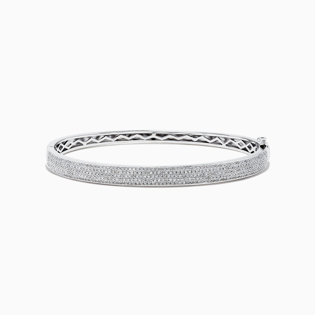 Effy 925 Sterling Silver Diamond Bangle, 0.73 TCW