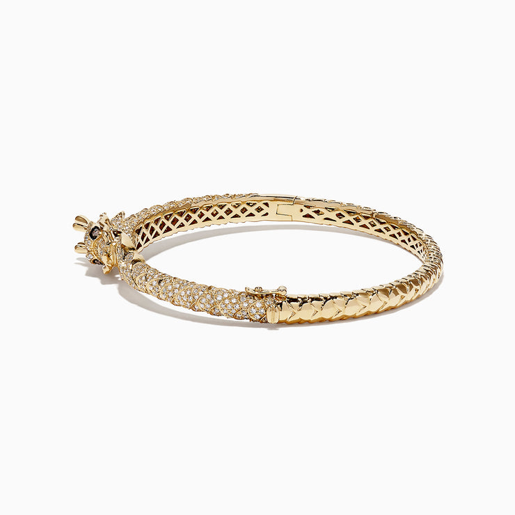 Effy Safari 14K Yellow Gold Diamond Dragon Bangle, 1.83 TCW