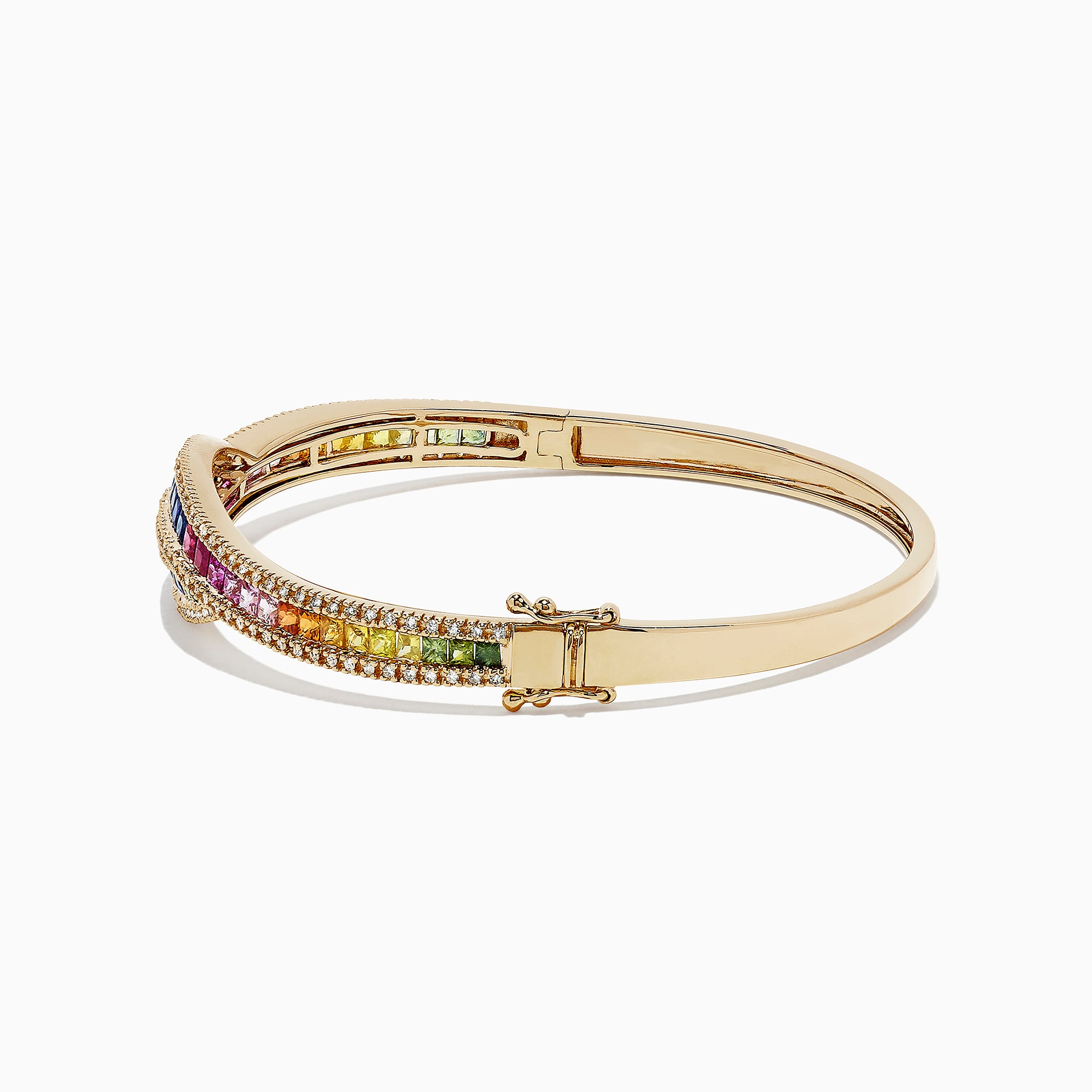 Effy Watercolors 14K Gold Multi Sapphire and Diamond Bangle, 4.17 TCW